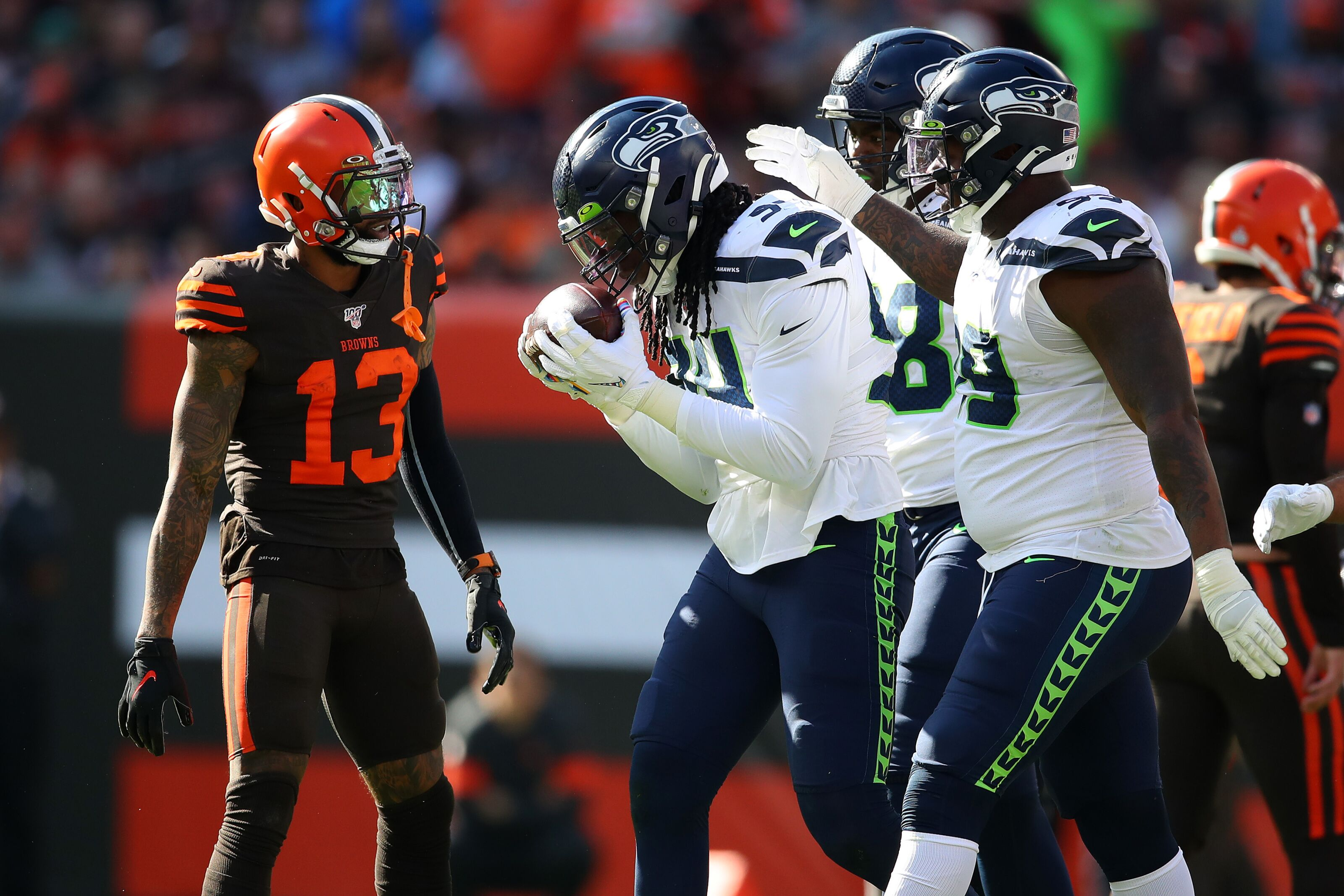 Seahawks get a mixed bag of grades on defense against Browns