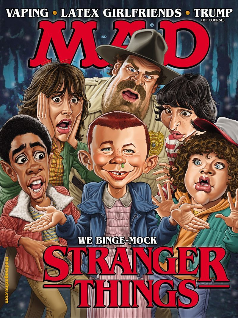 Mad Political Cartoon >> MAD magazine riffs on Stranger Things in newest issue