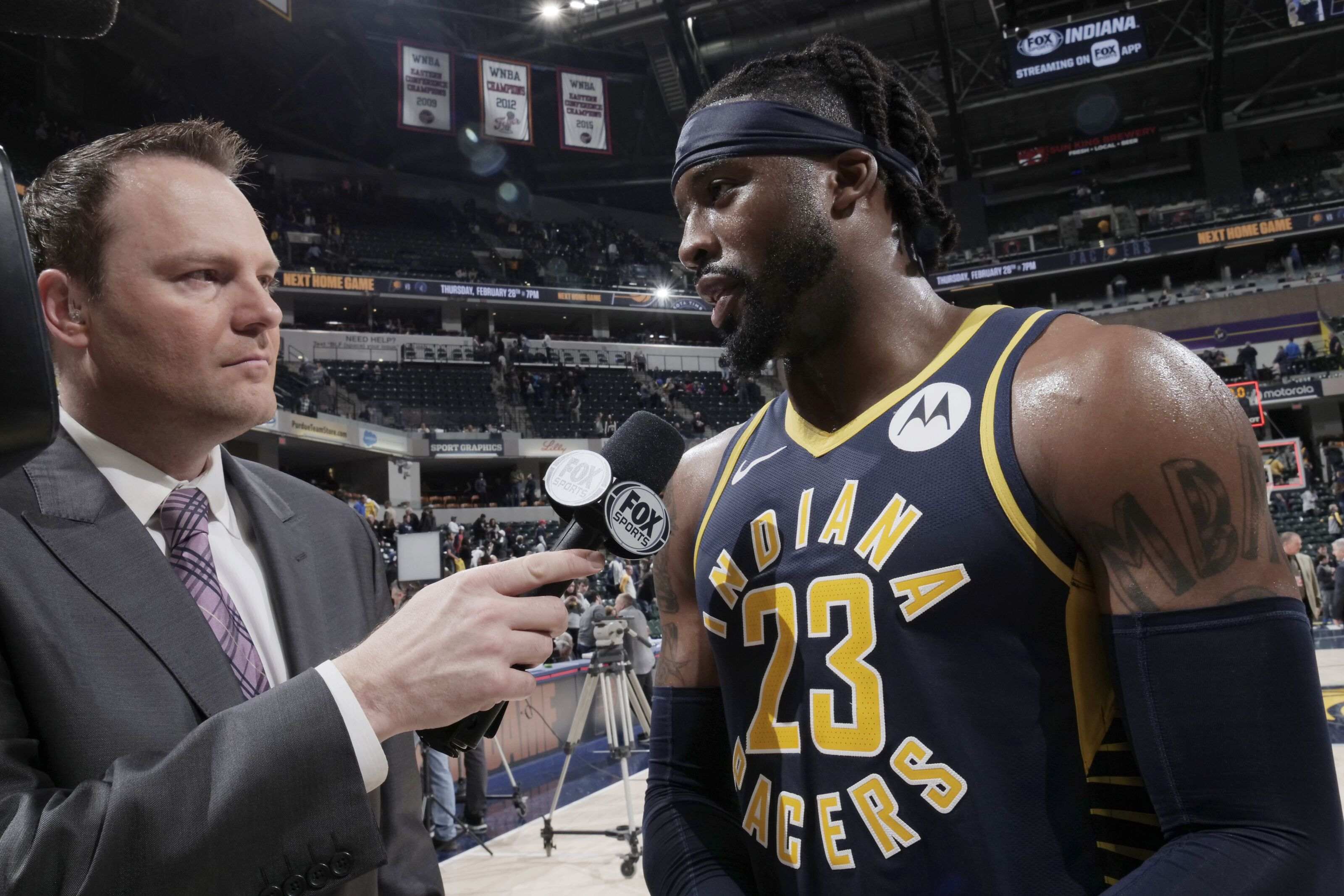 0c9fede03 Wesley Matthews provides much-needed boost to the Indiana Pacers