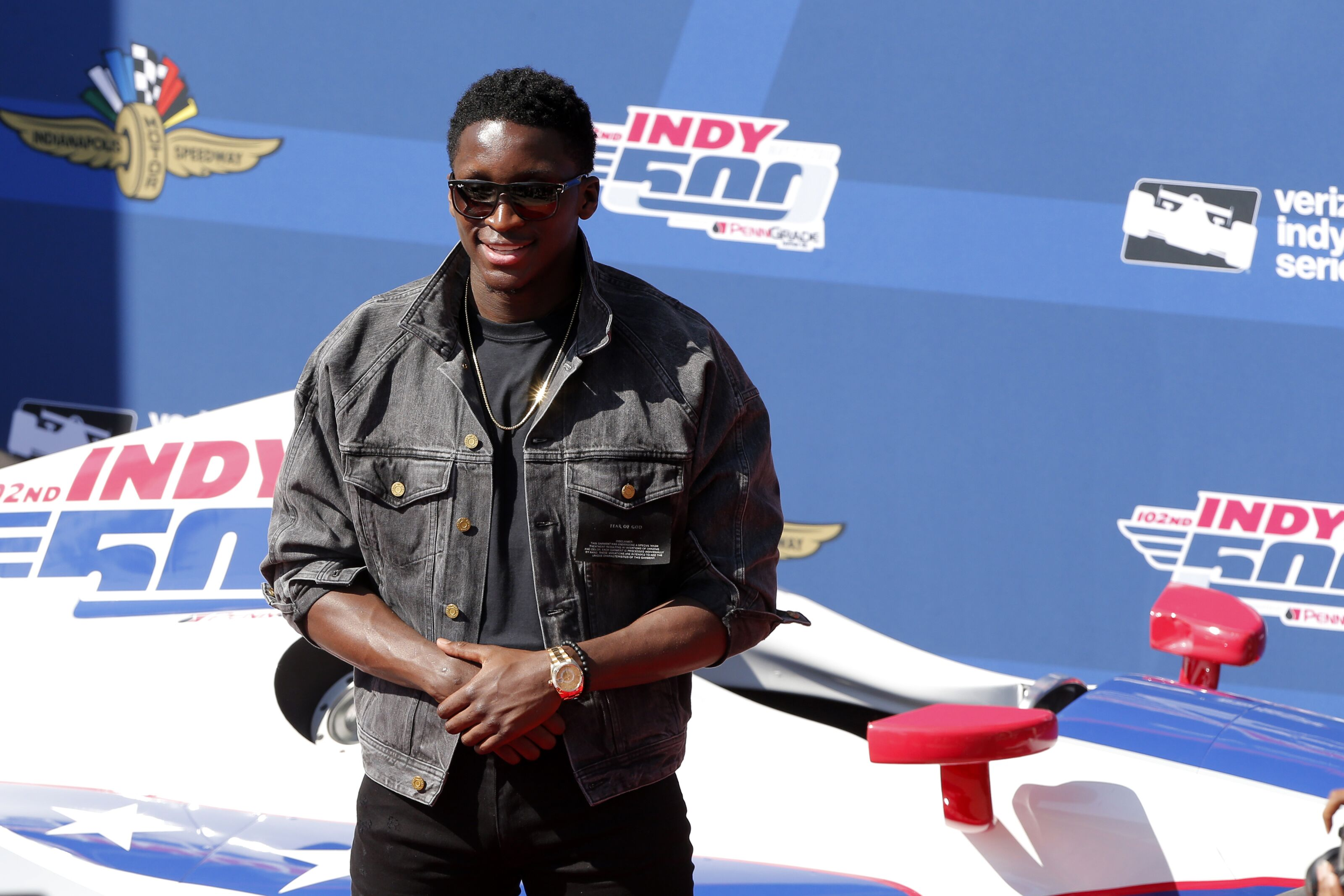 b1dec35245c Victor Oladipo and the Indiana Pacers make a pit stop at the Indy 500