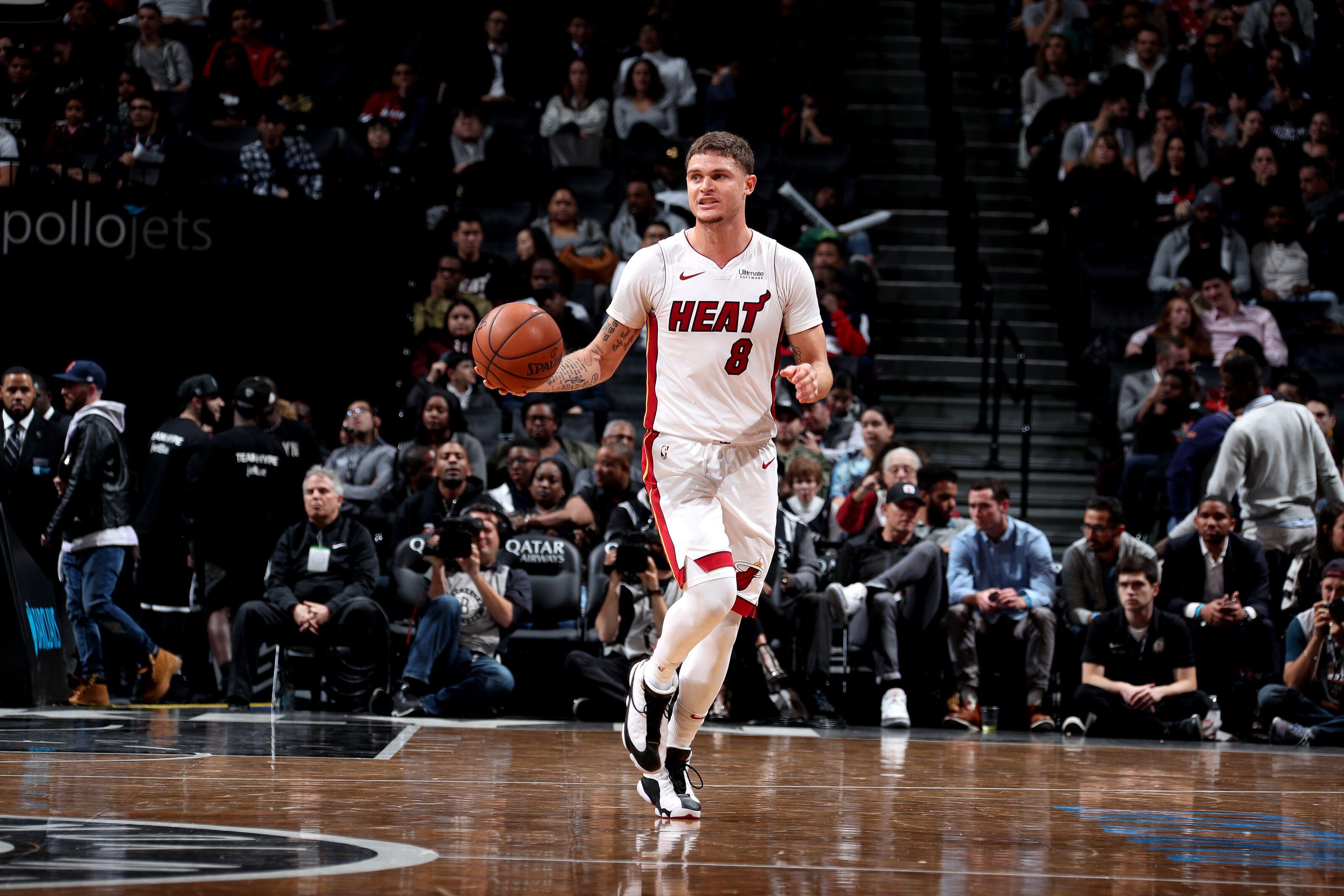 Miami Heat: Tyler Johnson hustles hard against the Brooklyn Nets