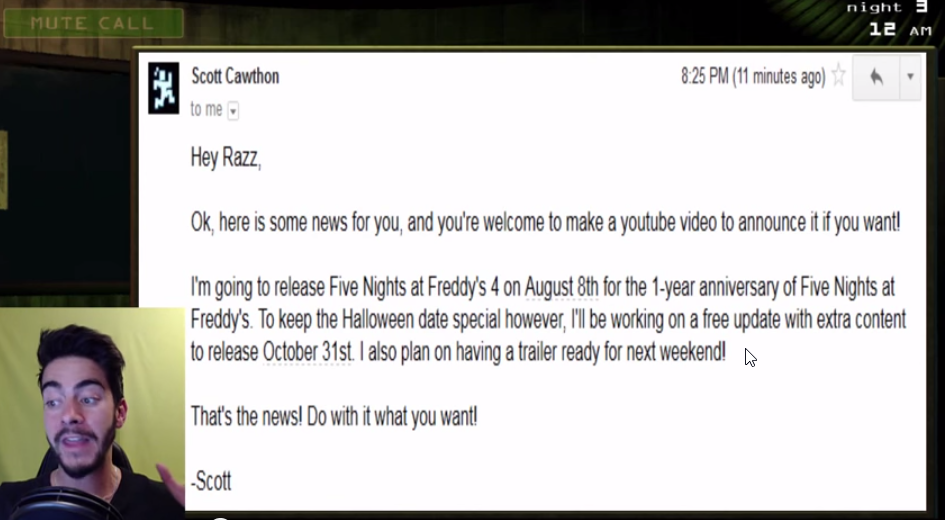 Five Nights At Freddy's 4 Getting Mid-August Mobile Release?