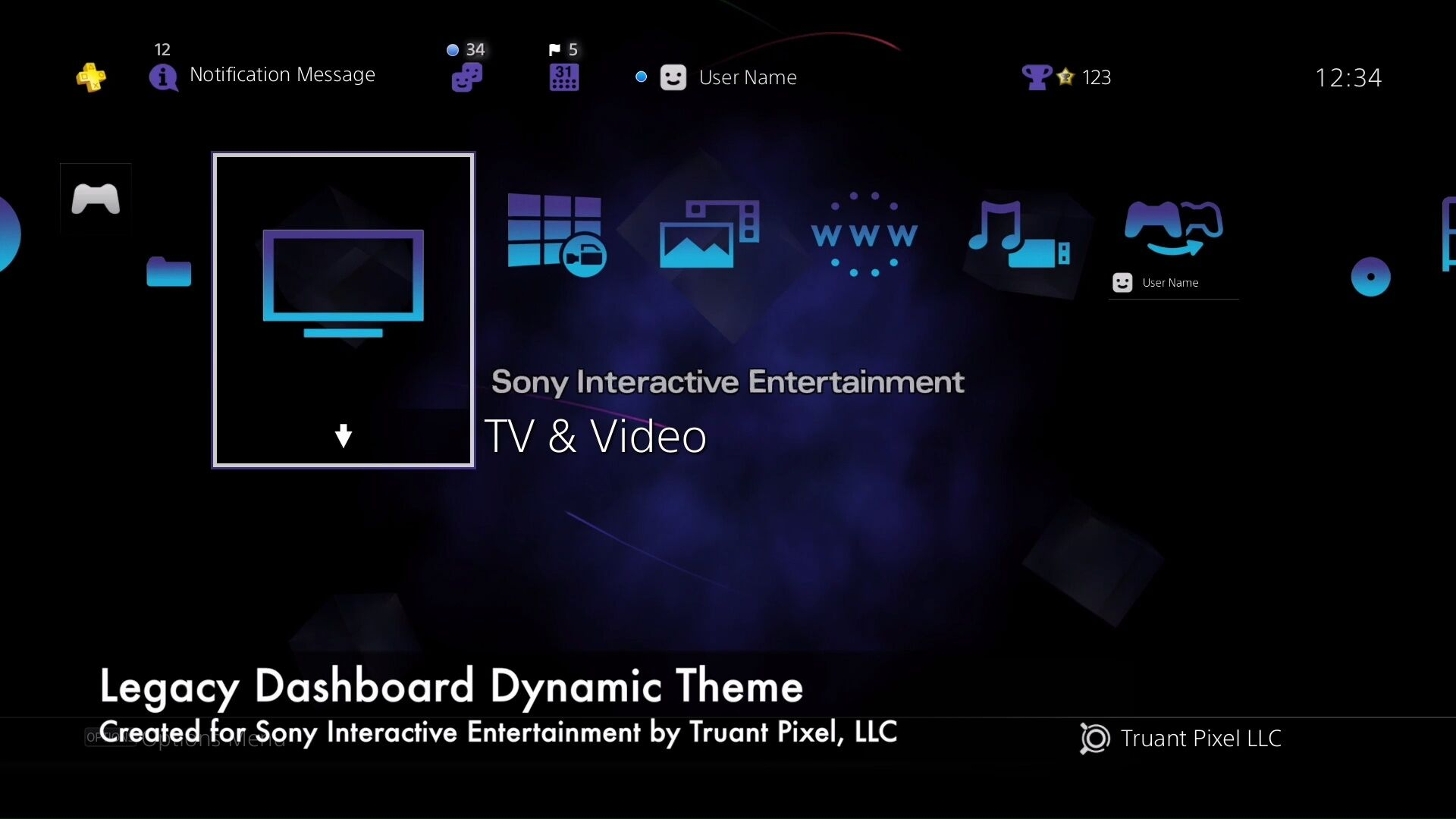 Someone has made an awesome PS4 theme in a PS2 dashboard style