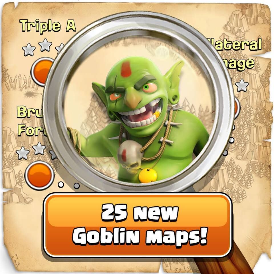 clash of clans october update clan war leagues new goblin maps