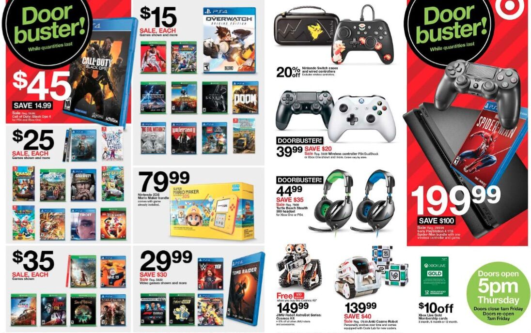 Black Friday 2018: Target gaming deals for Xbox One, PS4 and