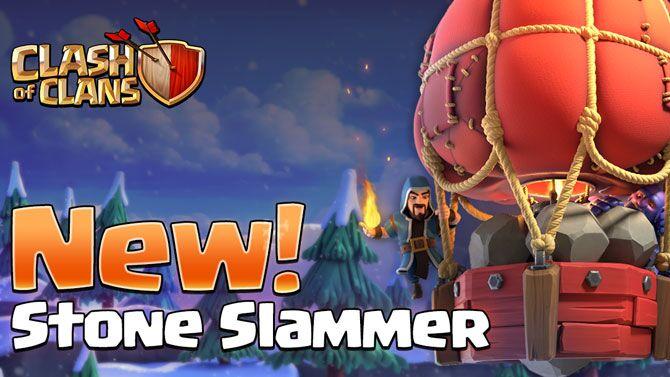 Clash of Clans Winter 2018 update sneak peek at the new Stone Slammer Siege Machine