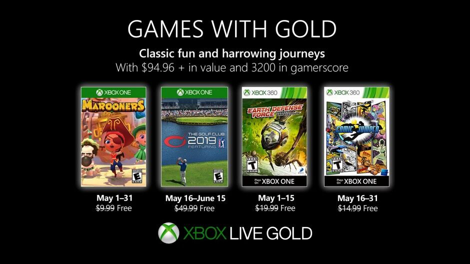 Xbox Games With Gold Mai 2021