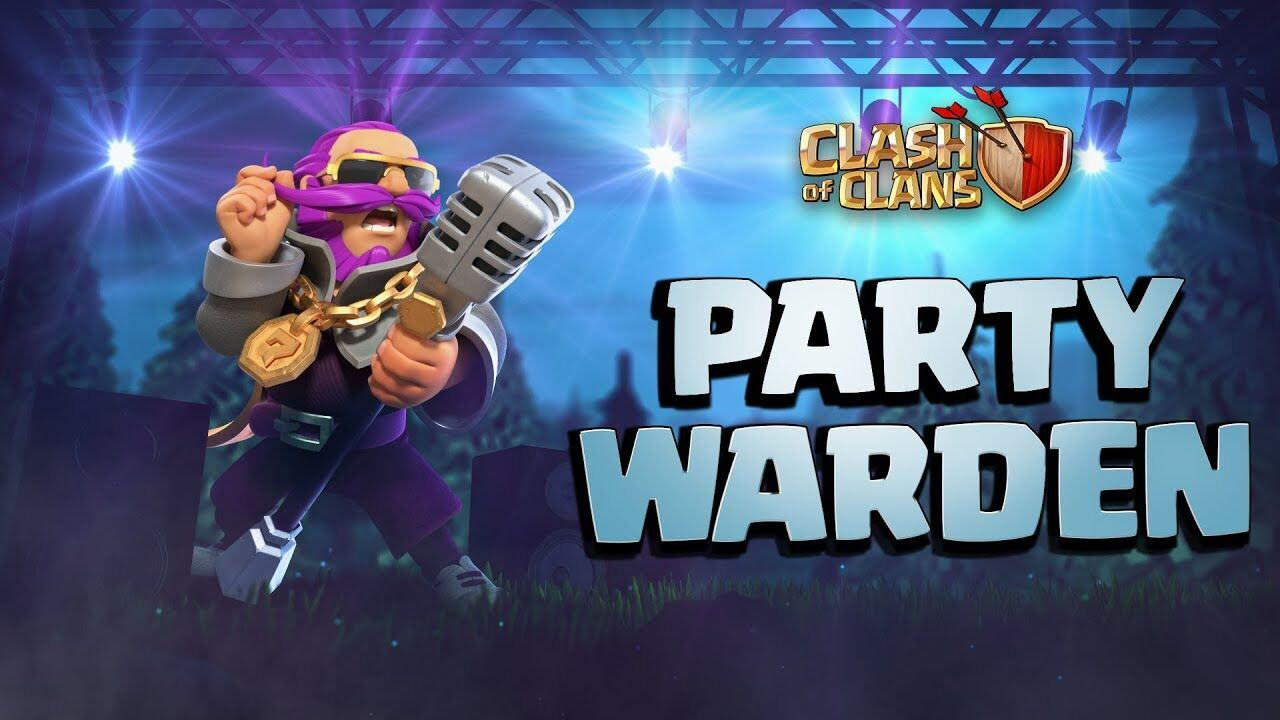 Clash of Clans August Season Challenges live with Party Warden skin