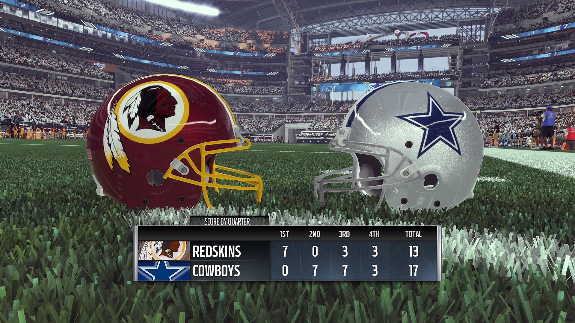 9d51a9e26 Madden 17 NFL Thanksgiving Thursday Washington Redskins Dallas Cowboys
