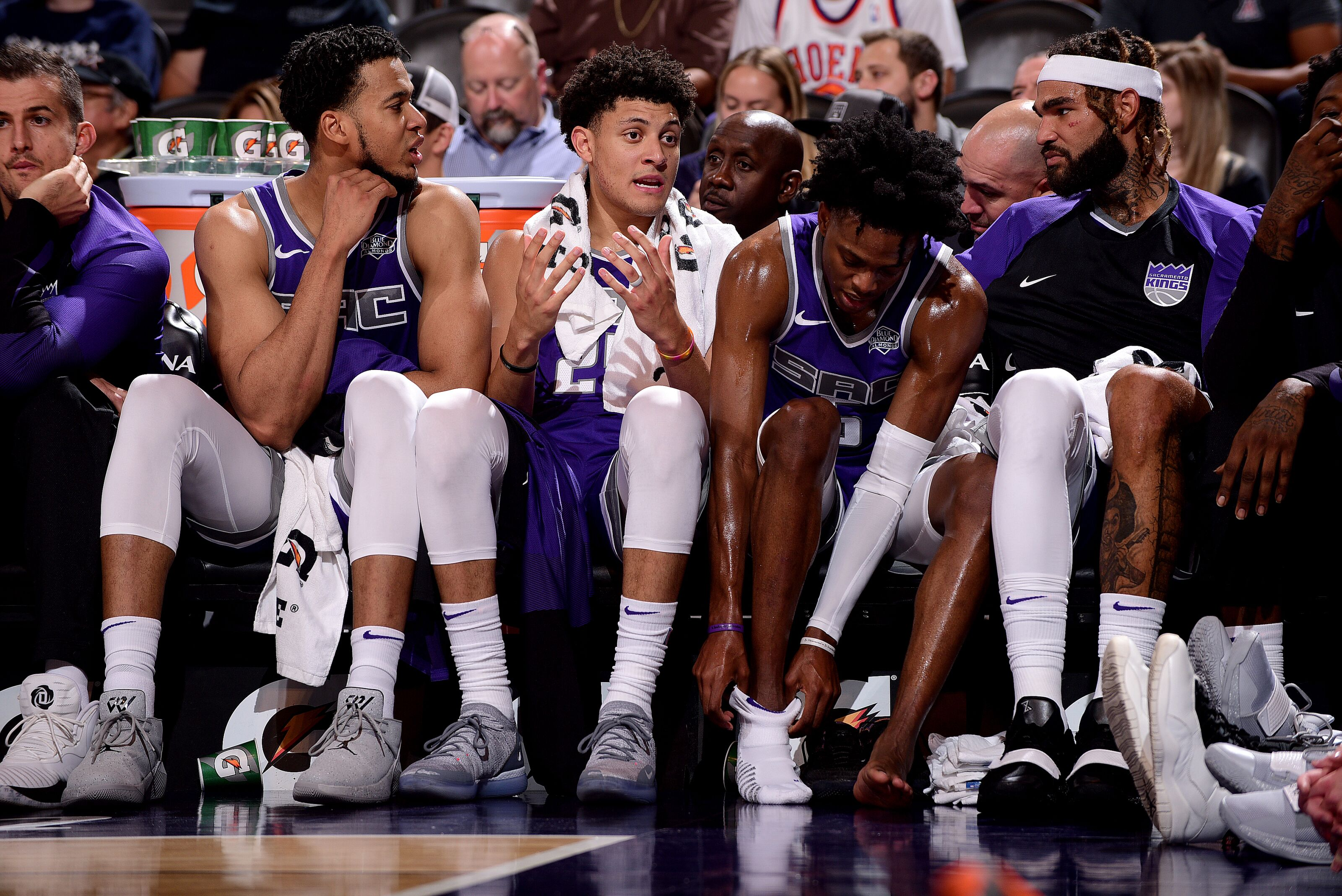 3a078836416 Sacramento Kings  Youngsters Commit To Faster Pace In Preseason Opener