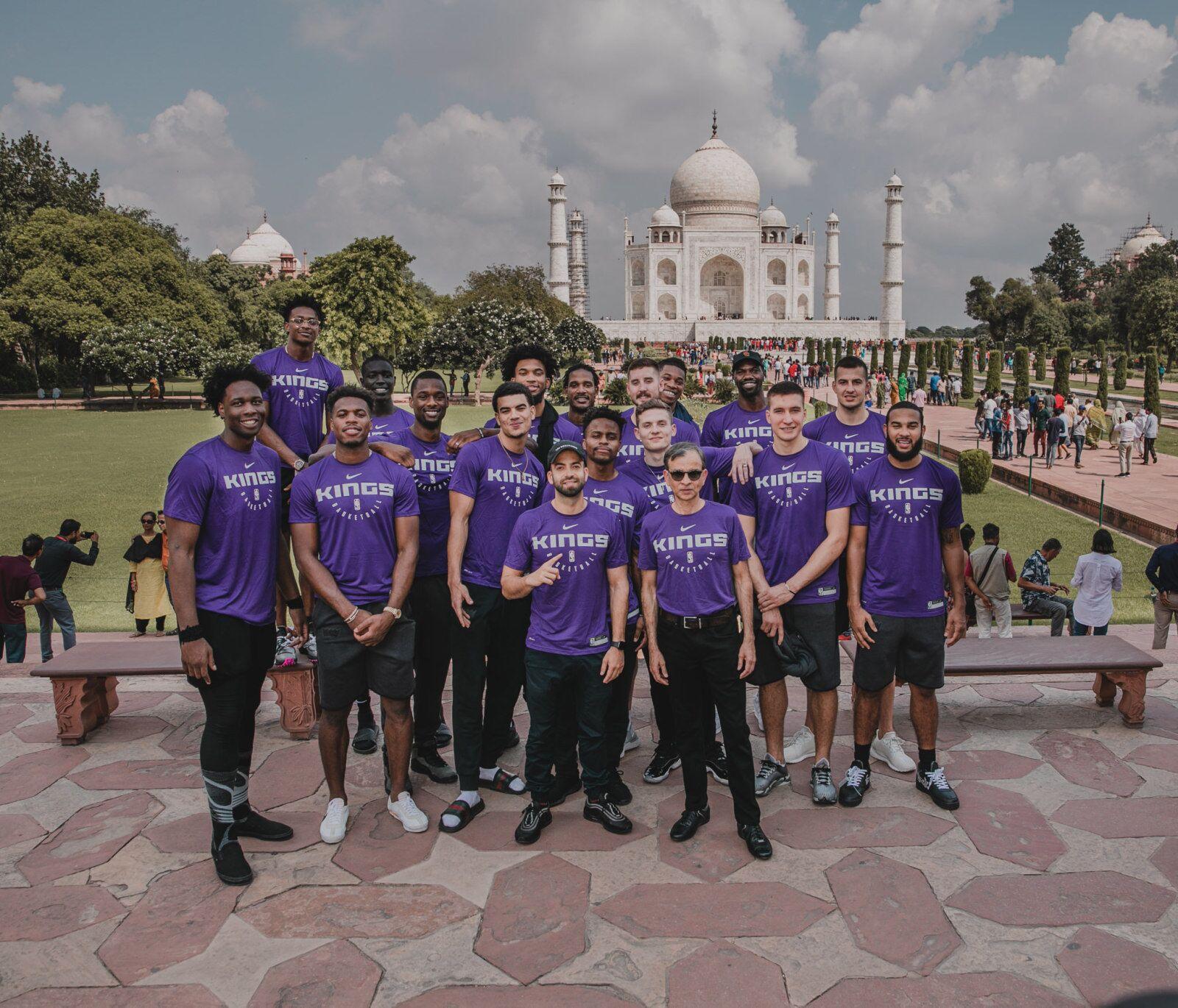 Sacramento Kings Make A Visit To India's Great Taj Mahal!
