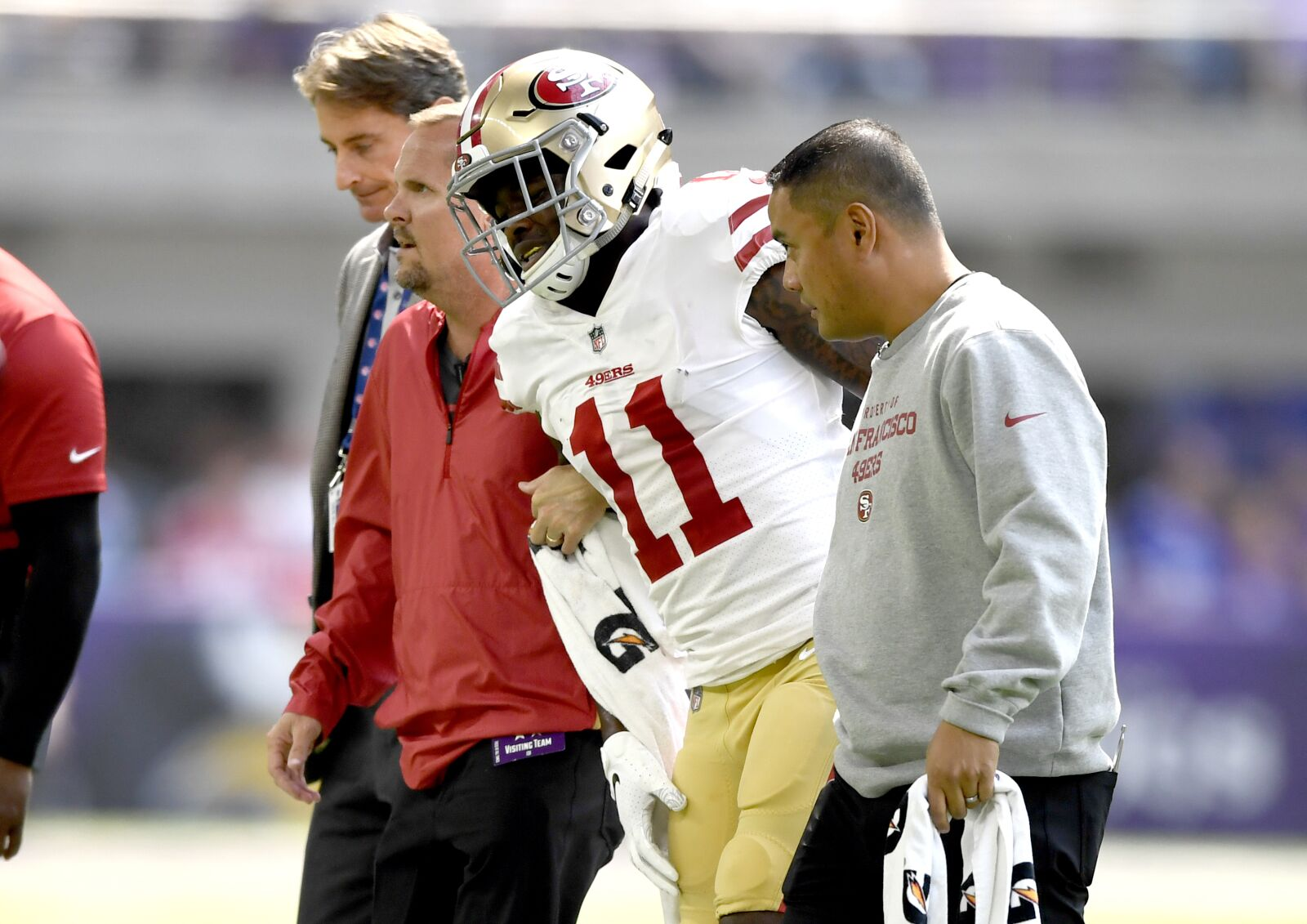 newest ac209 27d16 Marquise Goodwin will be game-time call for 49ers vs. Chiefs
