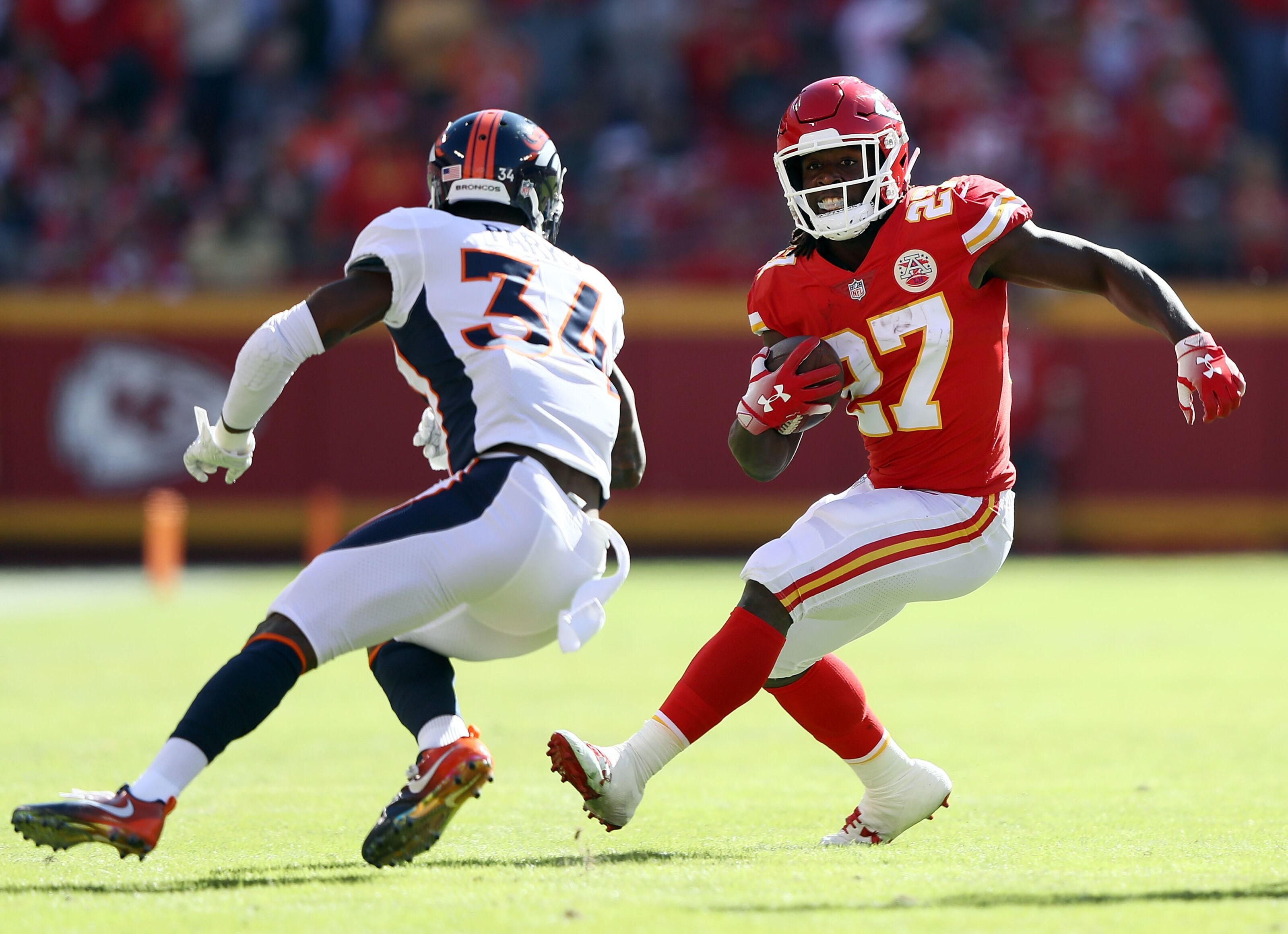 Image result for kareem hunt leap