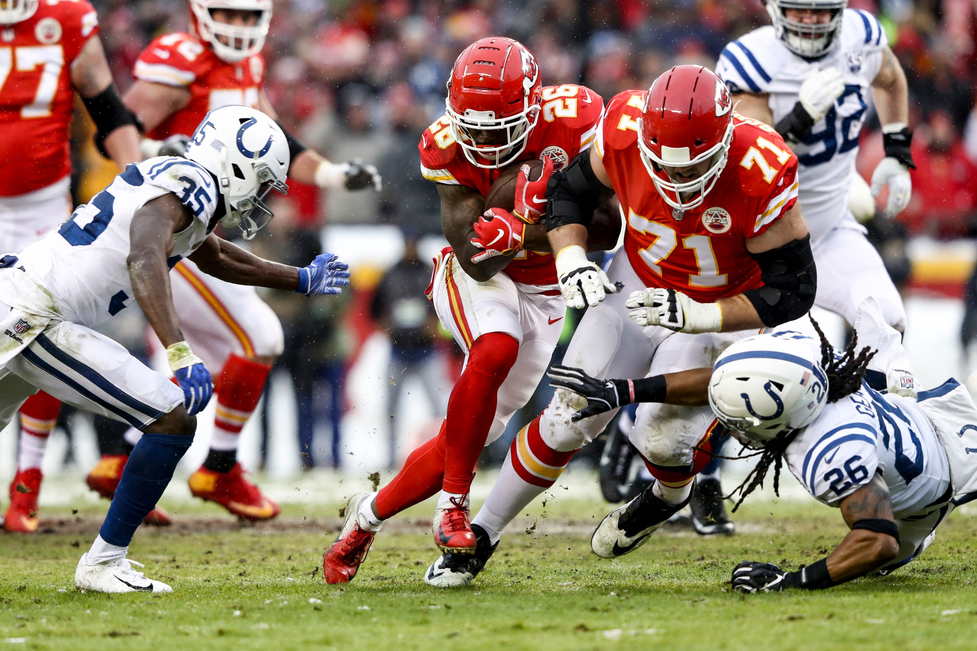 Kansas City Chiefs financial commitments along the offensive line