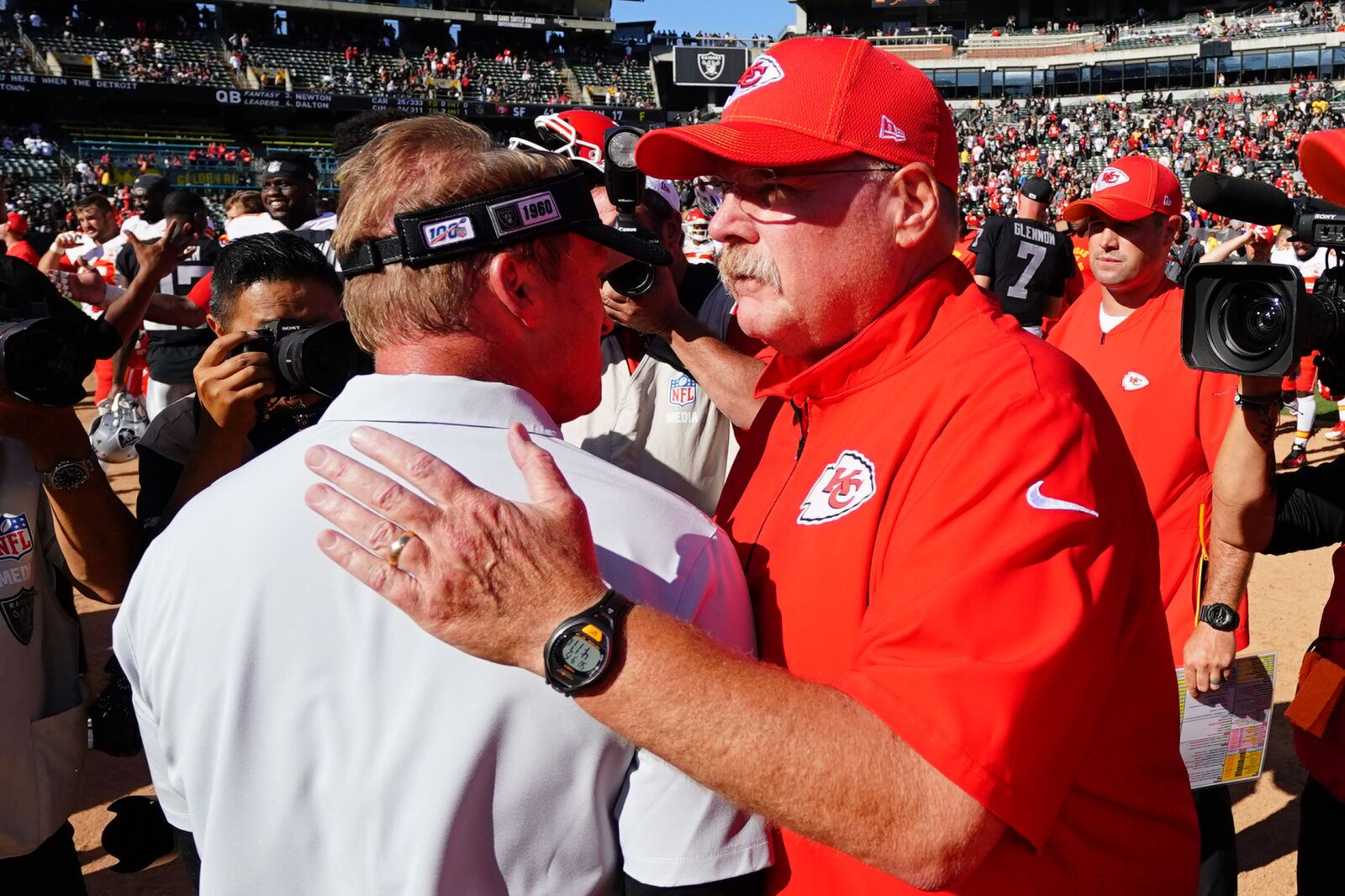 Andy Reid ties Chuck Noll on NFL's all-time coaching win list