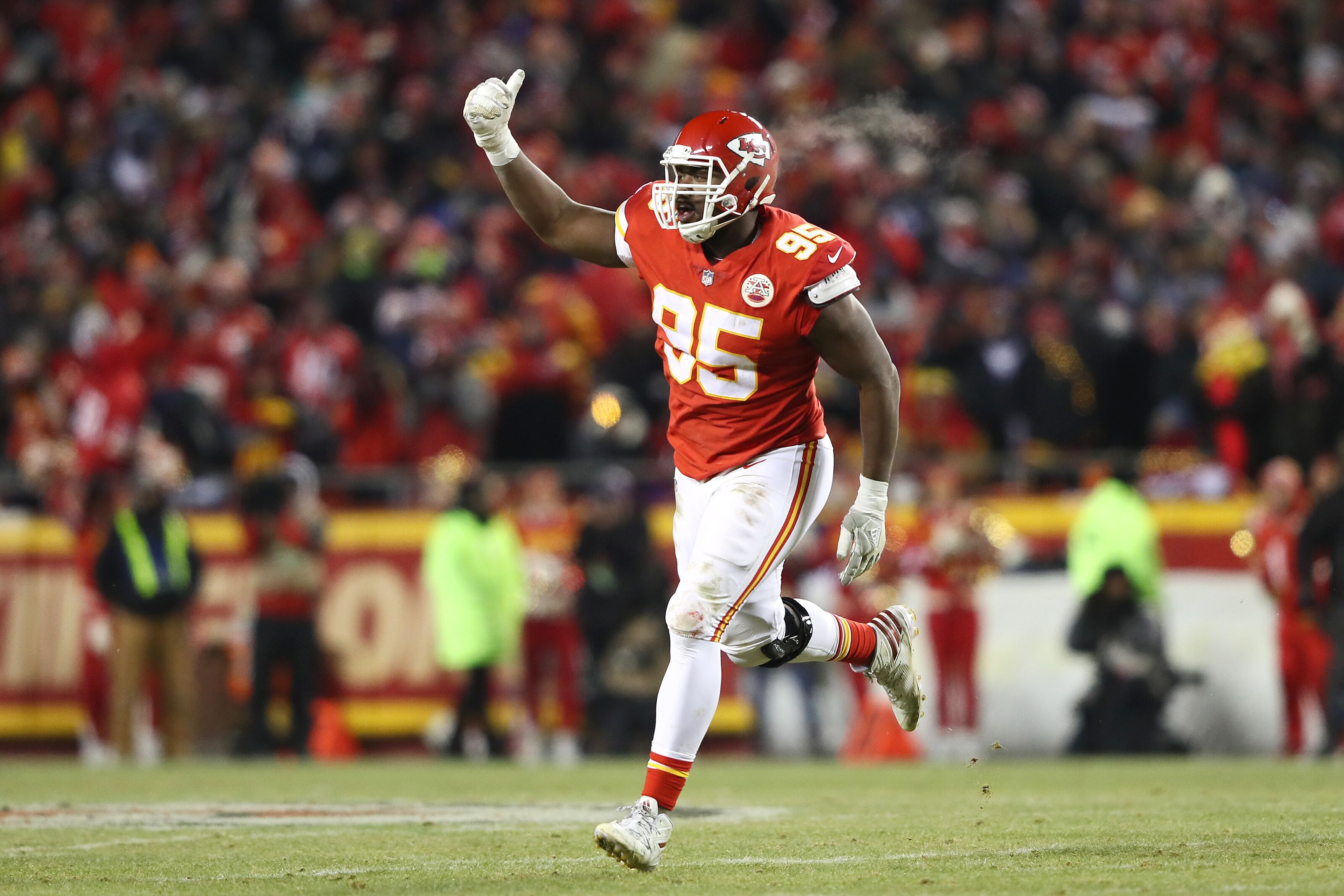 Chris Jones remains as one of John Dorsey's few defensive finds