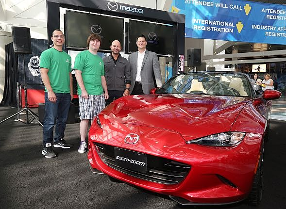 Good Guy Mazda Rewards FH Finalists At E With Miatas Art - Mazda rewards