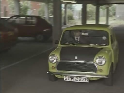 Mr bean celebrates 25th anniversary by driving on top of his mini i001841 i035822 solutioingenieria Images