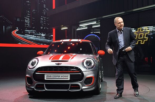 Jochen Goller Vice President Of Mini S Presents A Cooper During Press Preview At The North American International Auto Show January 13
