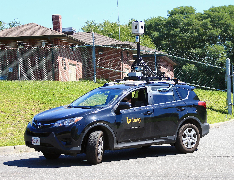 Who Wins When A Google Street View Car Meets A Bing Car
