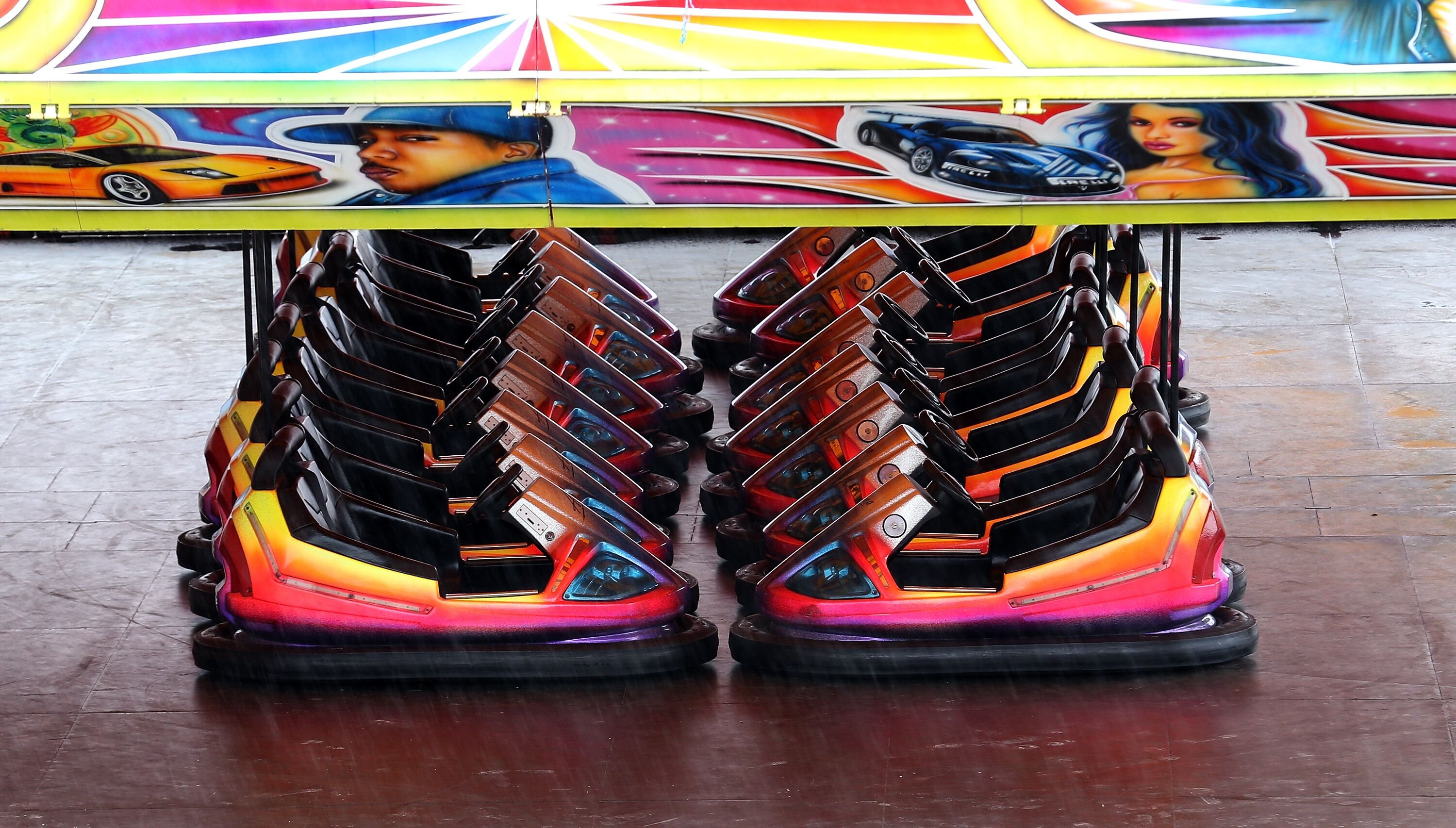 Ride Bumper Cars On An Ice Skating Rink In Rhode Island