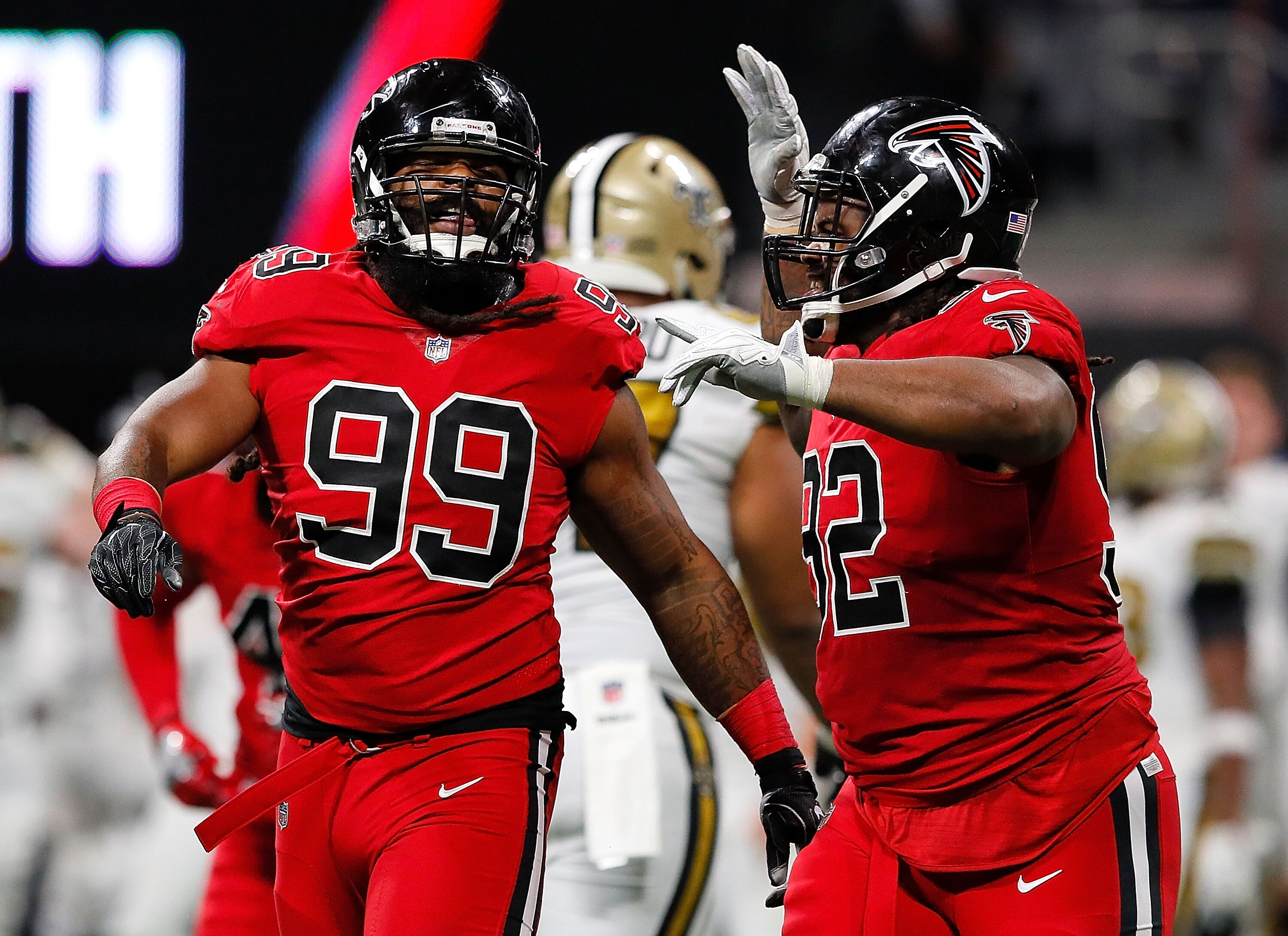 how will the atlanta falcons replace the loss of two key d linemen