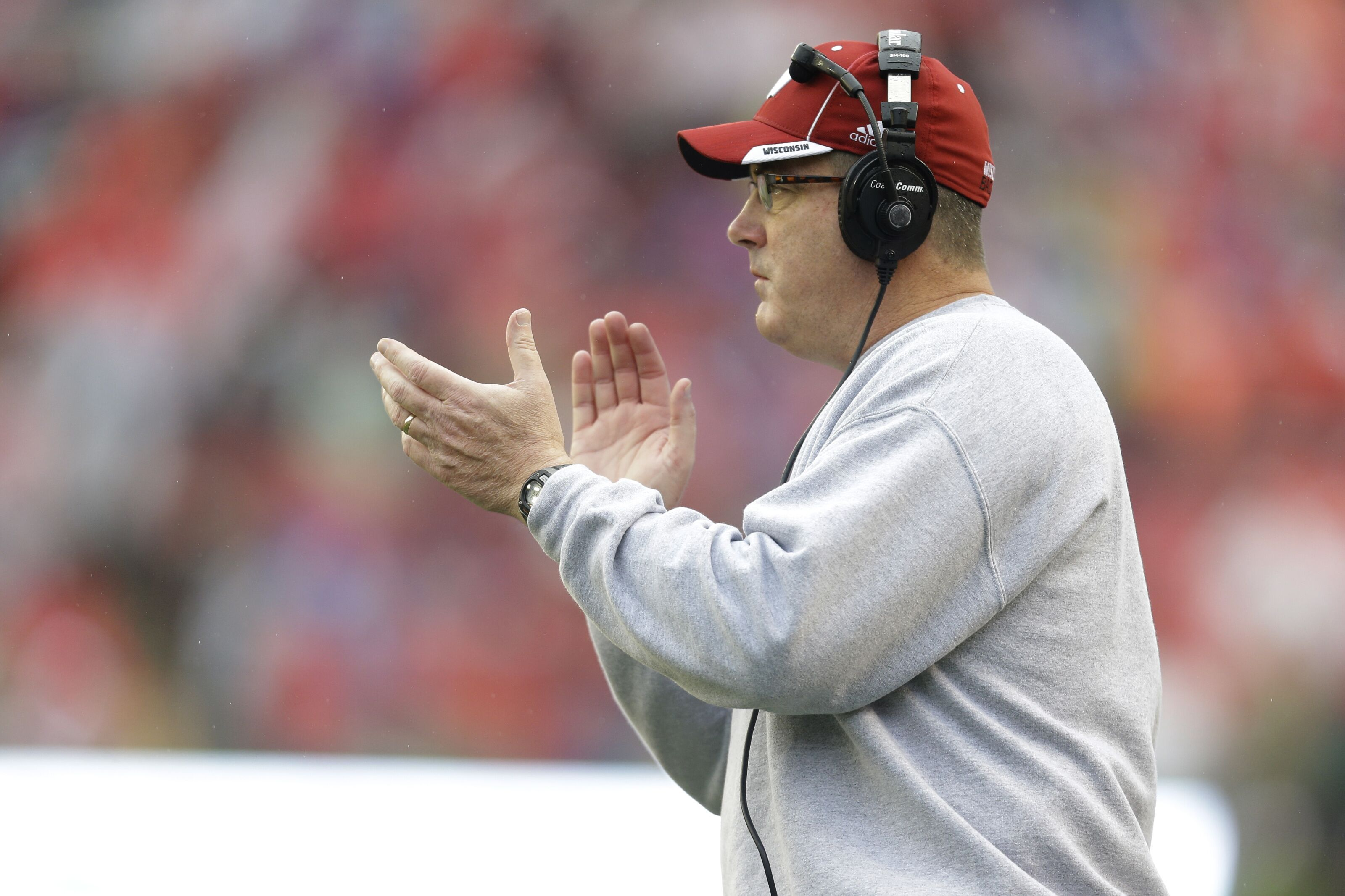 Is Wisconsin coach Paul Chryst coaching for his job against Penn State?