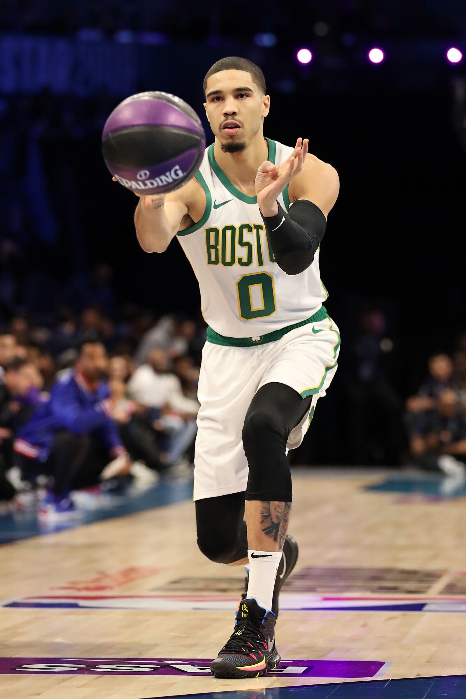 best service 4f020 8c72c Duke Basketball: Jayson Tatum's half court heave wins Skills ...