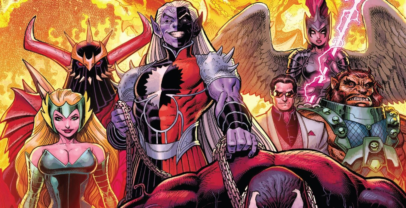 Freyja leads the charge against Malekith in War of the Realms No. 4