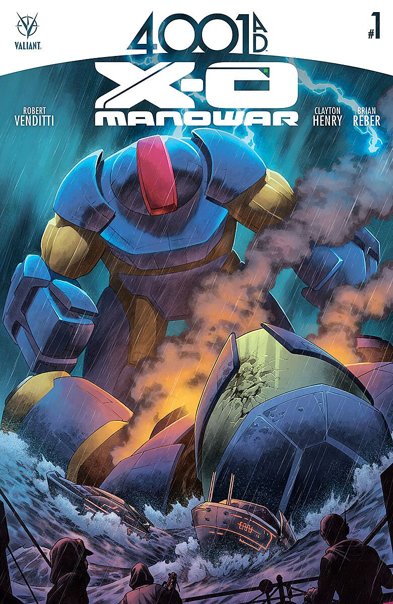 4001 A D : X-O Manowar #1 Review: It Has Giant Robots
