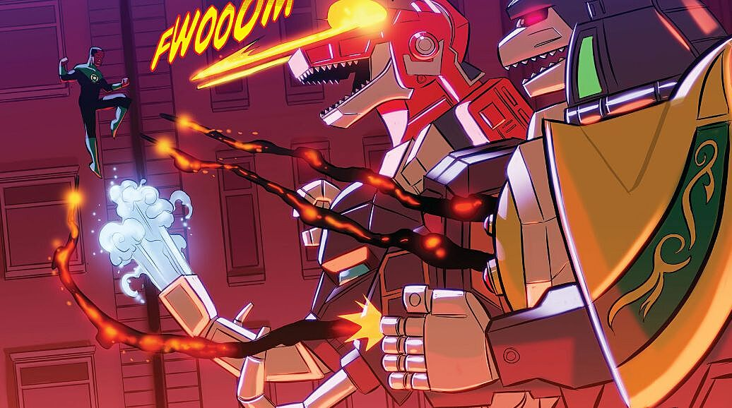 Justice league power rangers 2 review super heroes vs zords for Batman fairy door