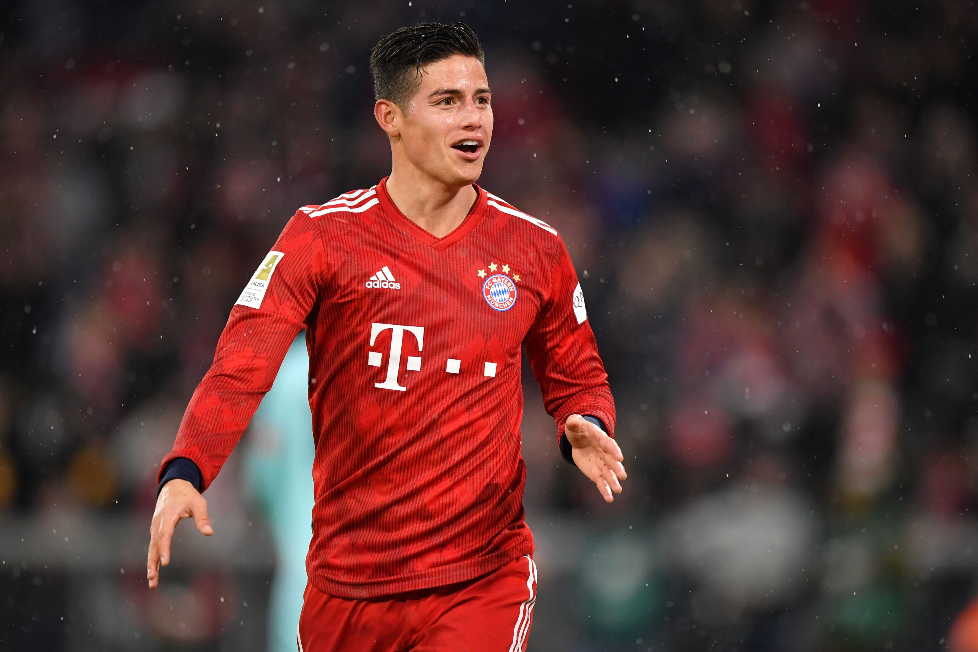 Bayern Munich's James Rodriguez remains tight-lipped about his future
