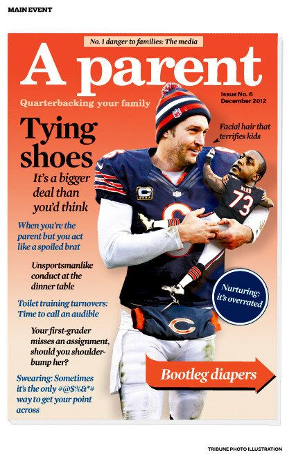 Jay Cutler On Cover of Parent Magazine (Spoof)