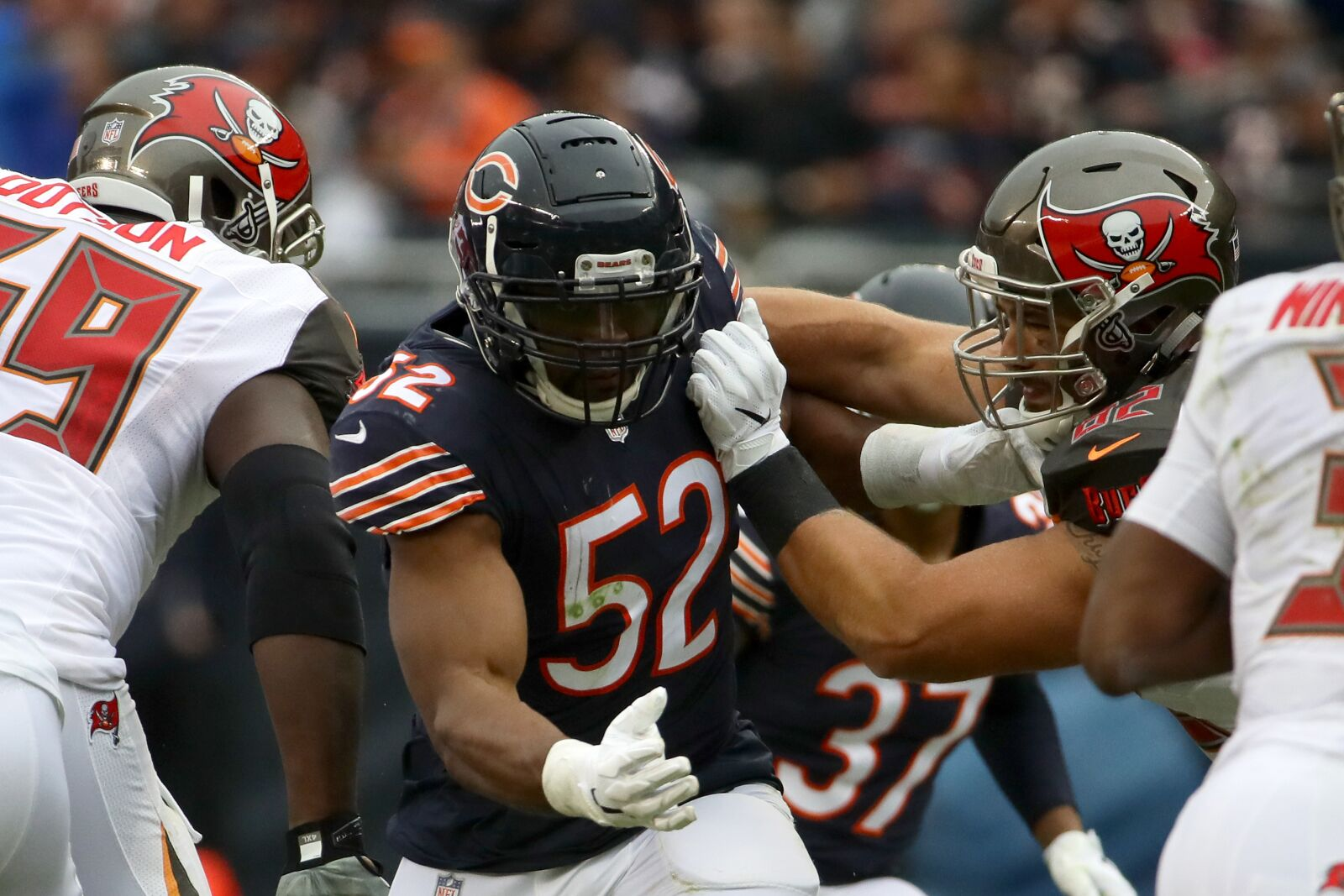 on sale b4be7 23d40 Chicago Bears Week 7: Rush Khalil Mack up the middle vs ...