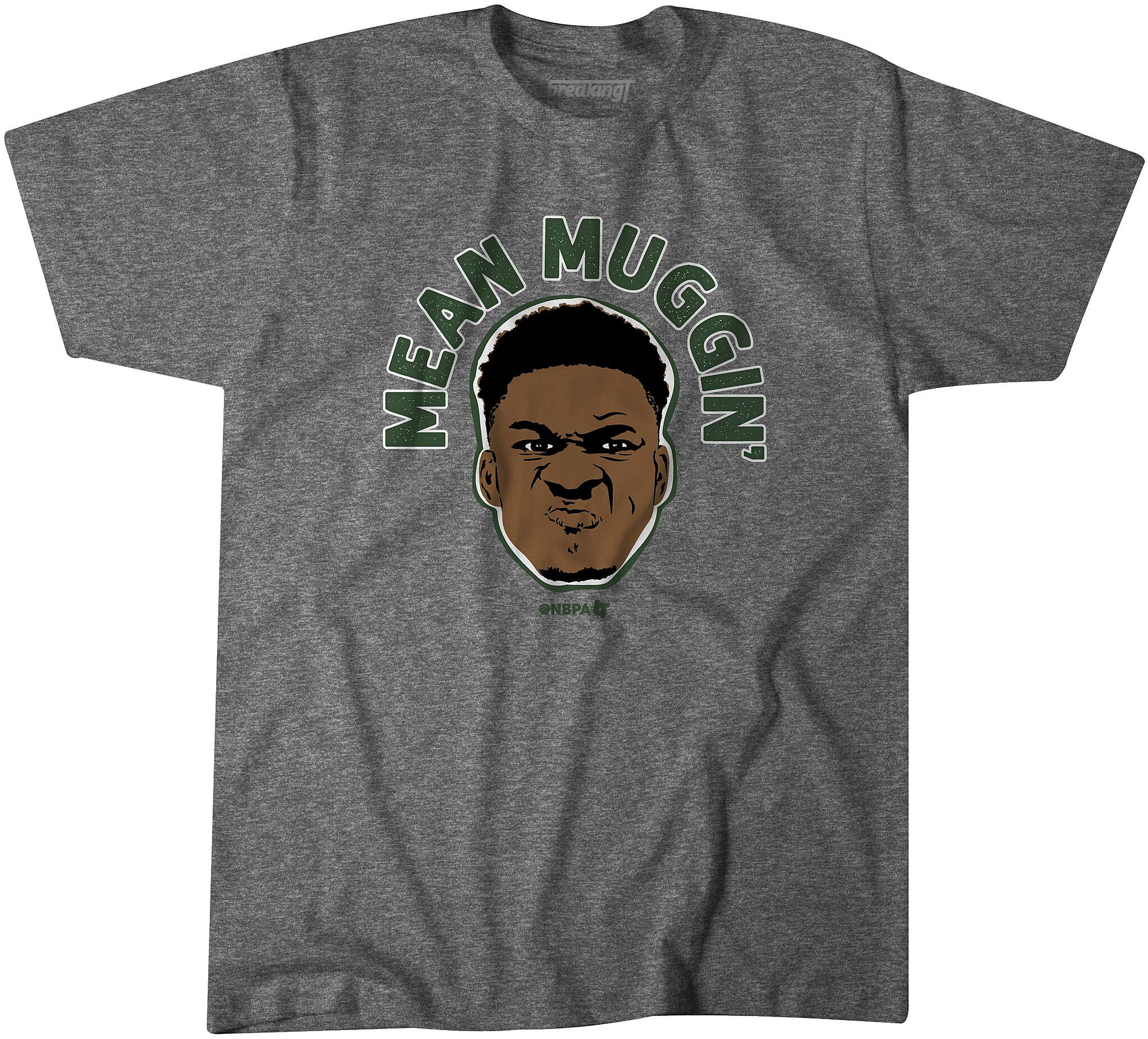 on sale 4abee effdc Milwaukee Bucks fans need this Giannis 'Mean Muggin' t-shirt