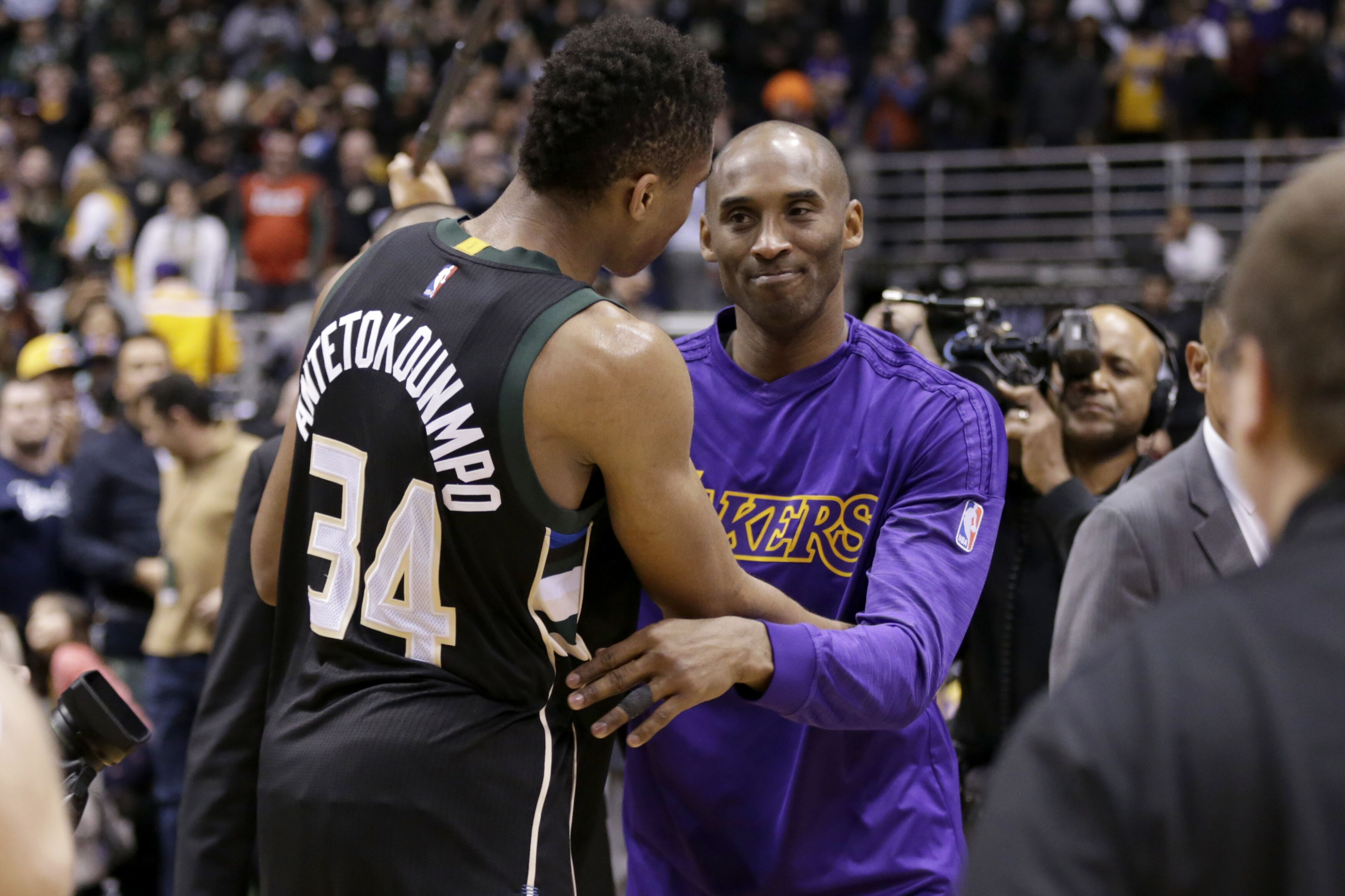 For Giannis Antetokounmpo, the inspiration of Kobe Bryant loomed large