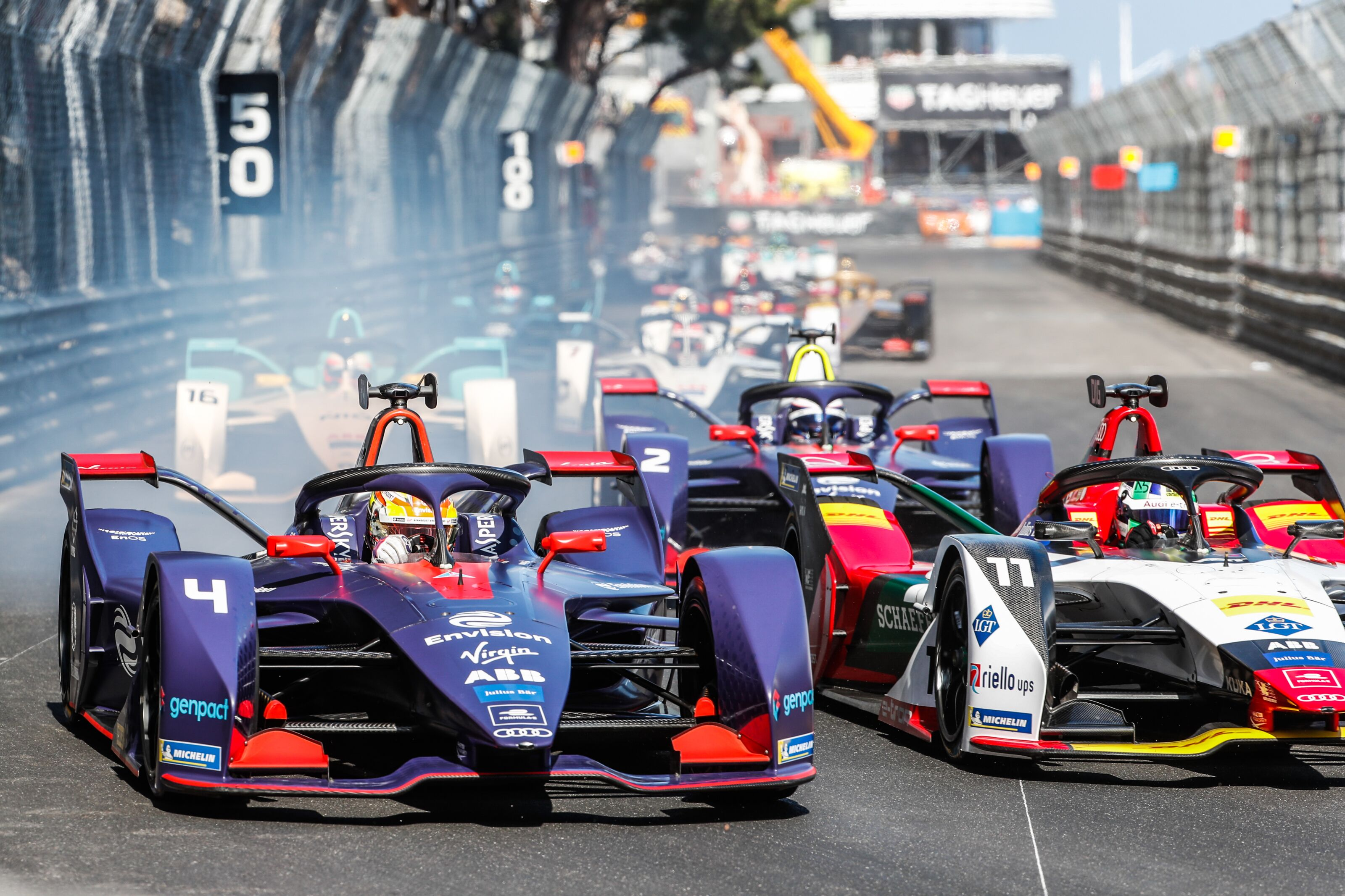 Formula E: Top 9 drivers still separated by only a handful of points