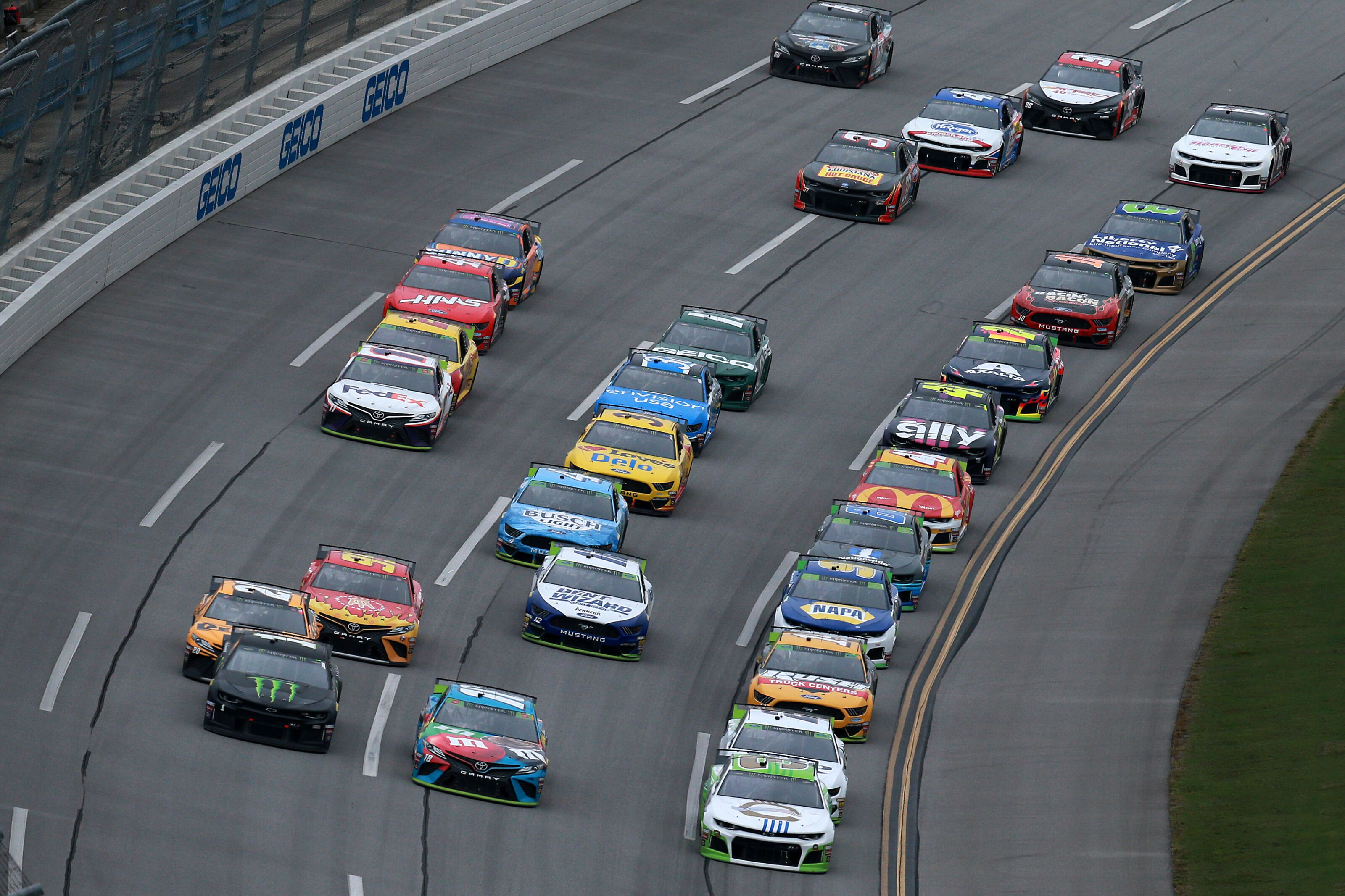 NASCAR Cup Series: Talladega playoff race suspended until Monday