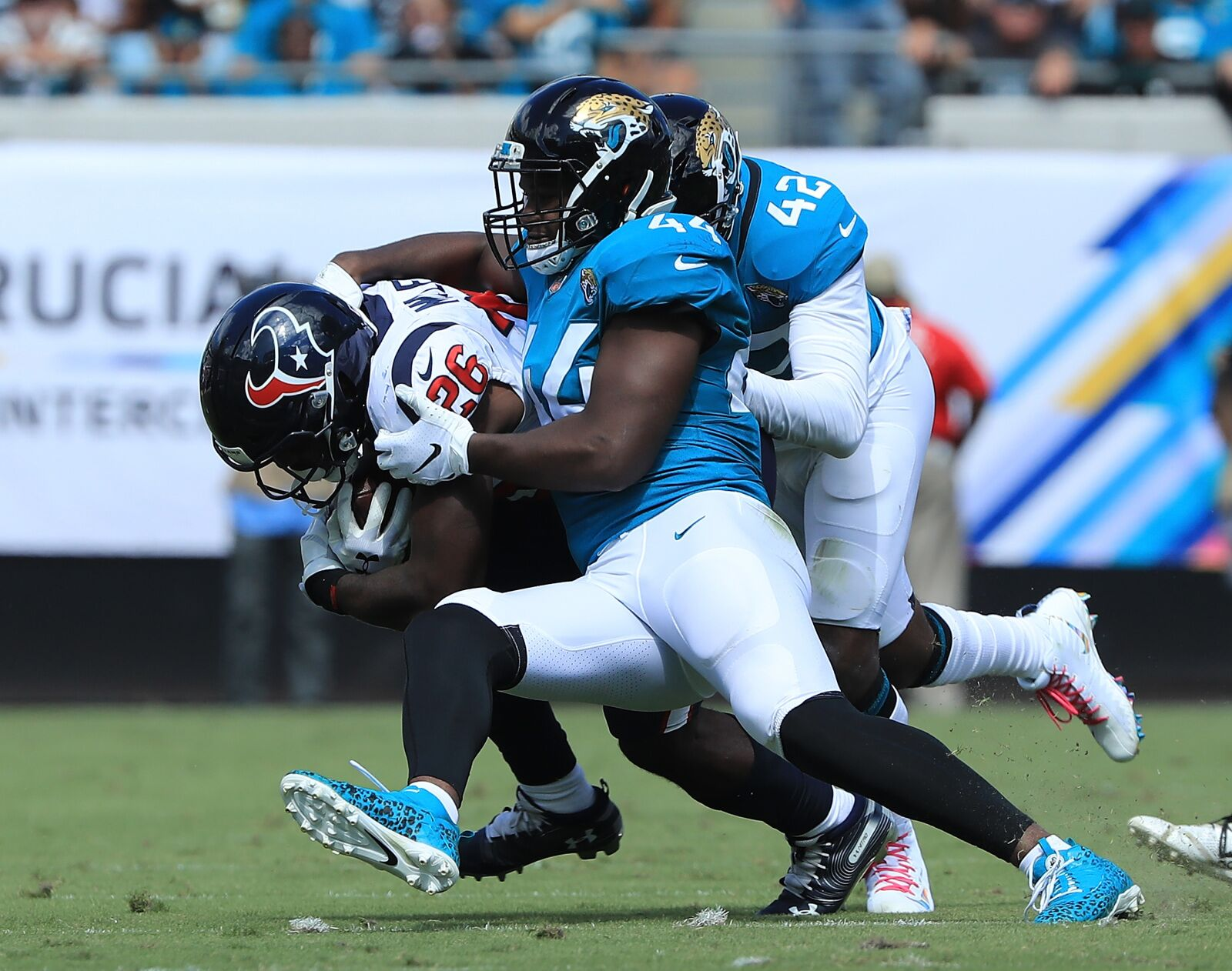The Jaguars face the Titans in an AFC South showdown