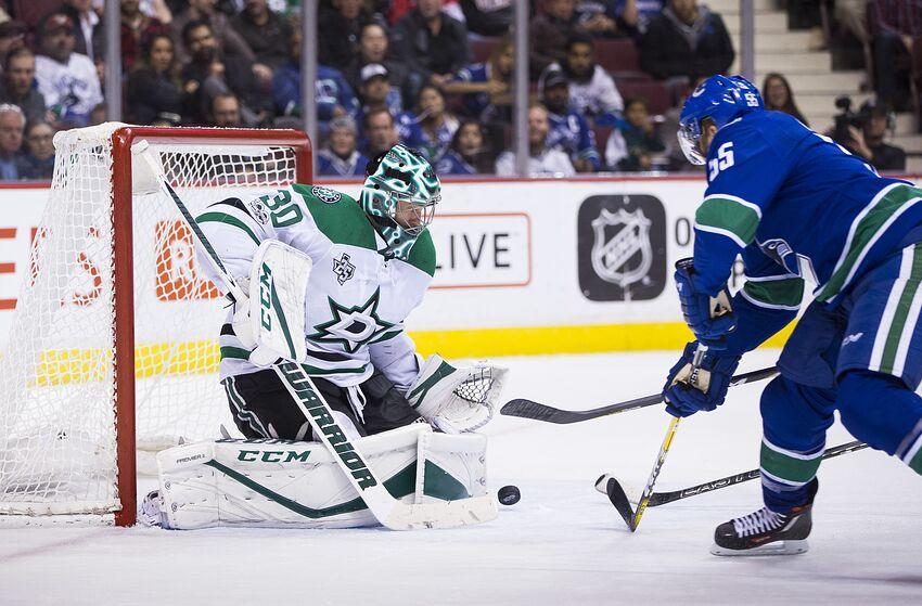 Dallas Stars At Vancouver Canucks Ben Bishop Makes His Return