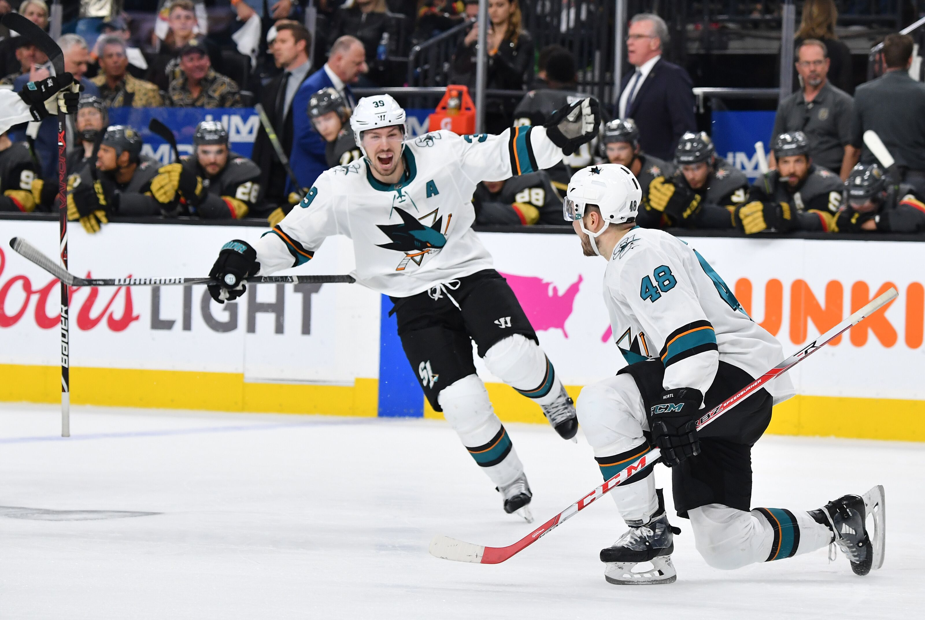 When the Pressure's On Who Takes the Face-Off for the San Jose Sharks?