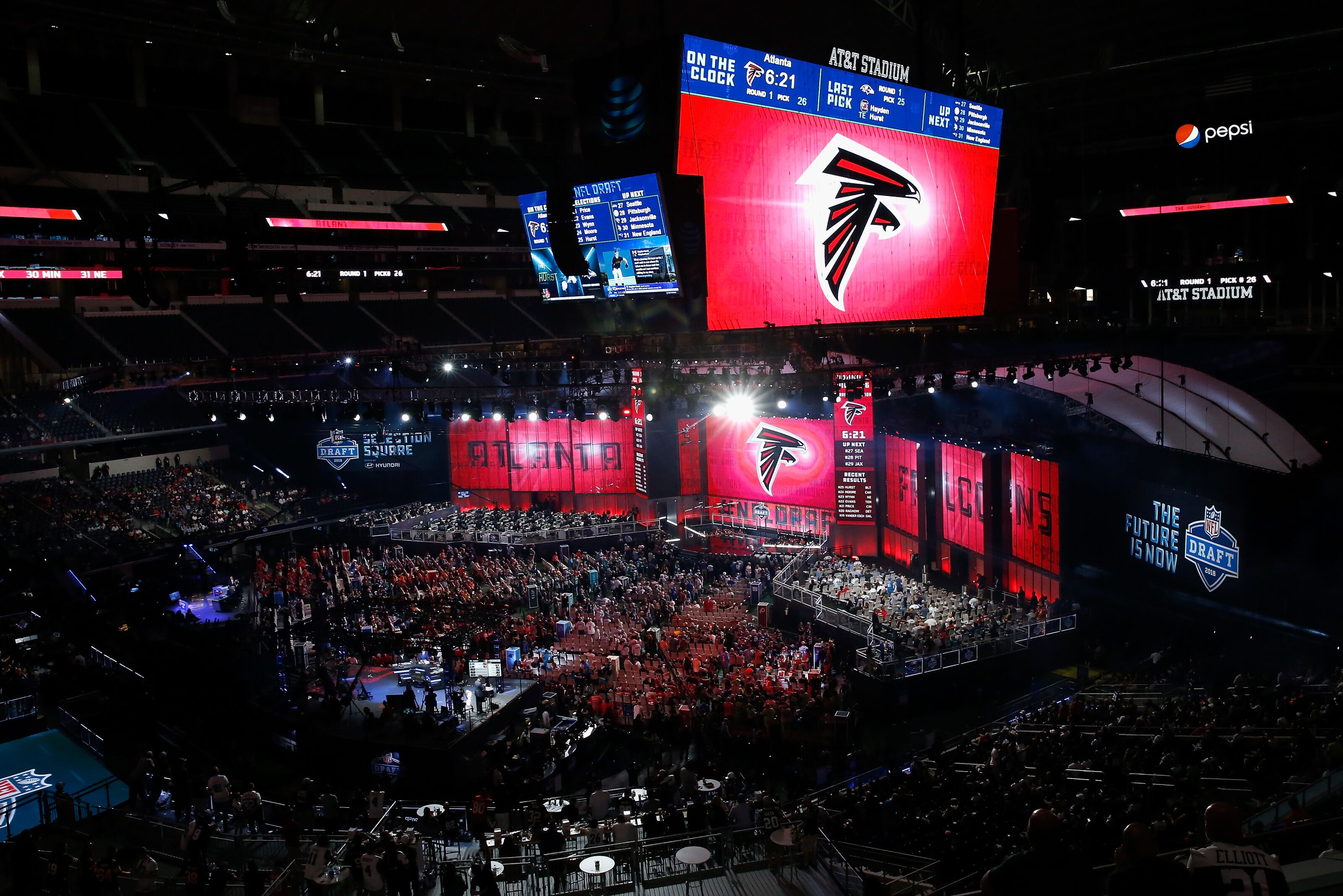Embracing the newest Atlanta Falcons members to the brotherhood