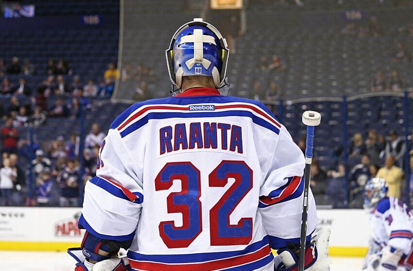timeless design b996e 064ba New York Rangers Re-Sign Goalie Antti Raanta