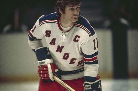 Canadian ice hockey player Vic Hadfield of the New York Rangers on the ice  during a game 2524c502e