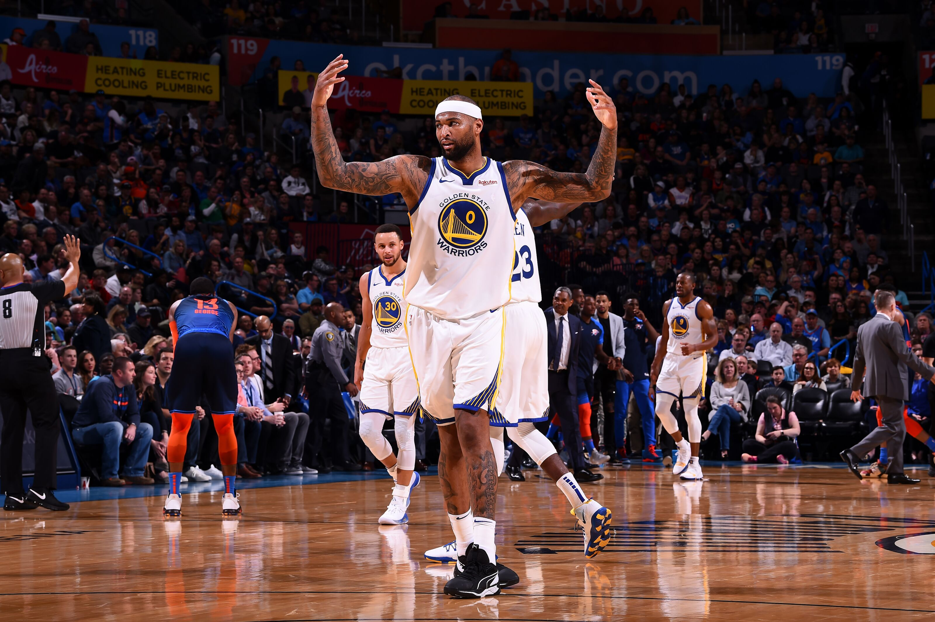 3c7733e89fdf Golden State Warriors  Is DeMarcus Cousins fitting in with the Dubs