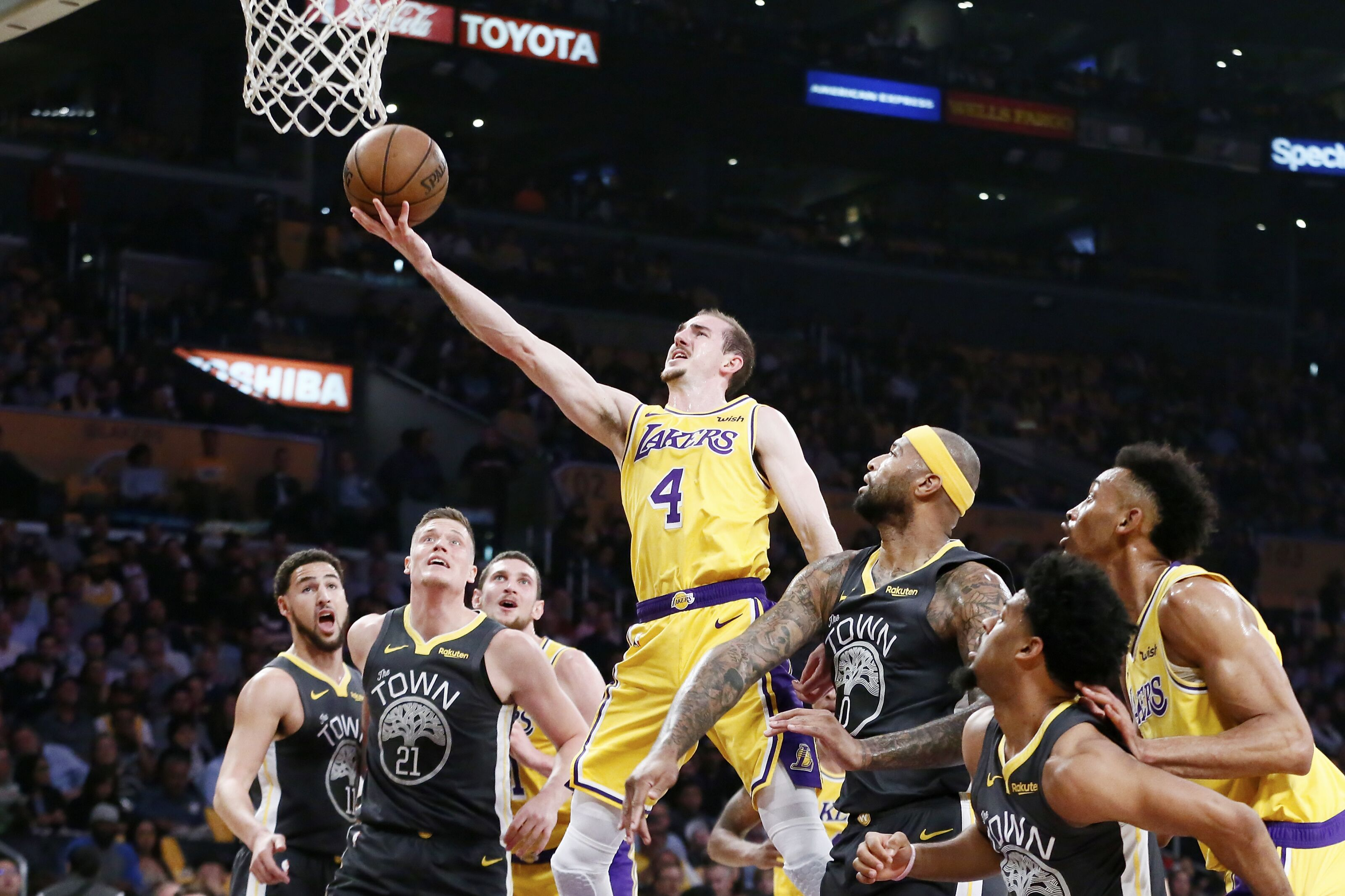 available on feet at authentic quality The Golden State Warriors had interest in Lakers' Alex Caruso