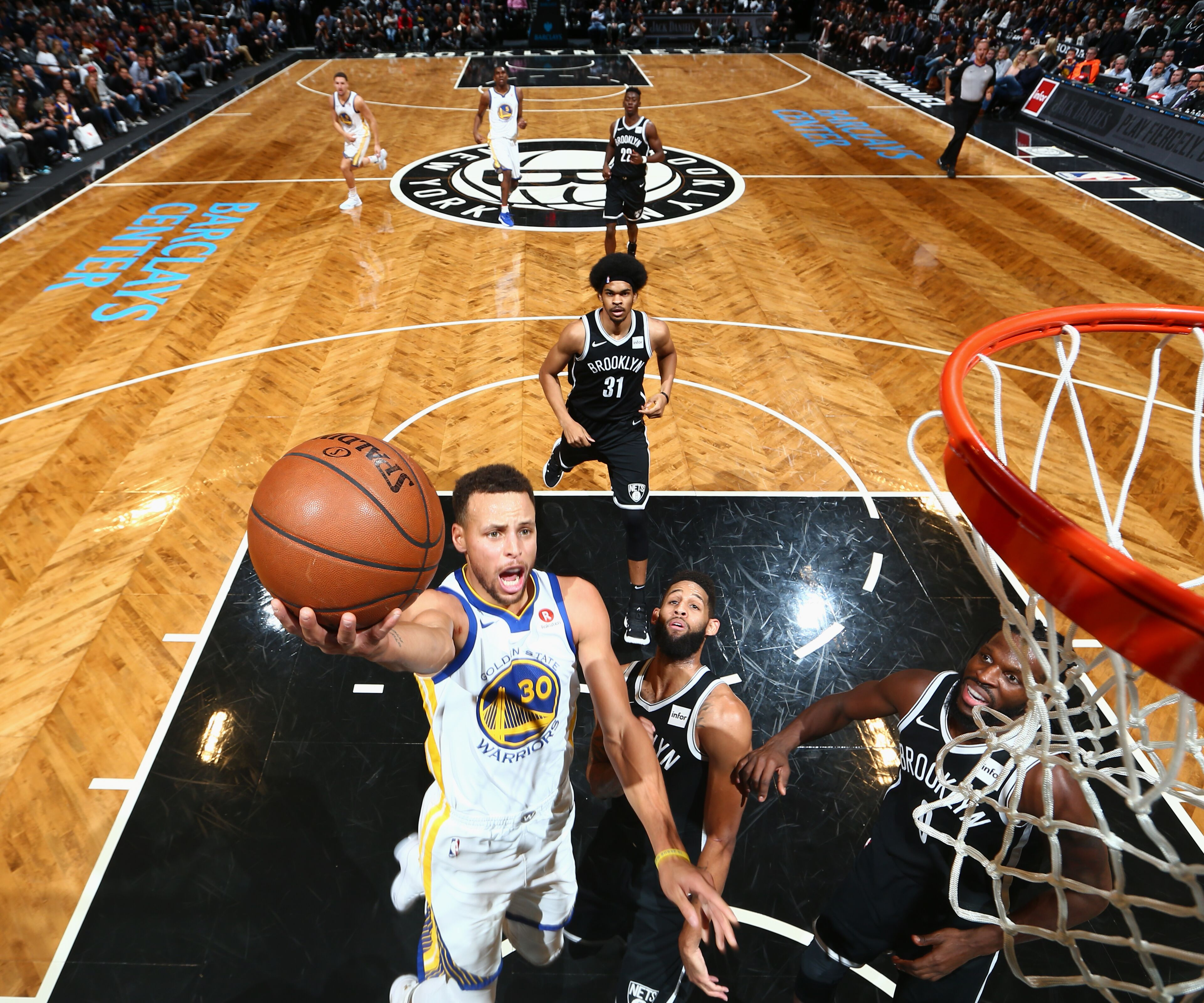 Warriors Record Without Stephen Curry 2017: Golden State Warriors Beat Brooklyn Nets 118-111 At Barclays