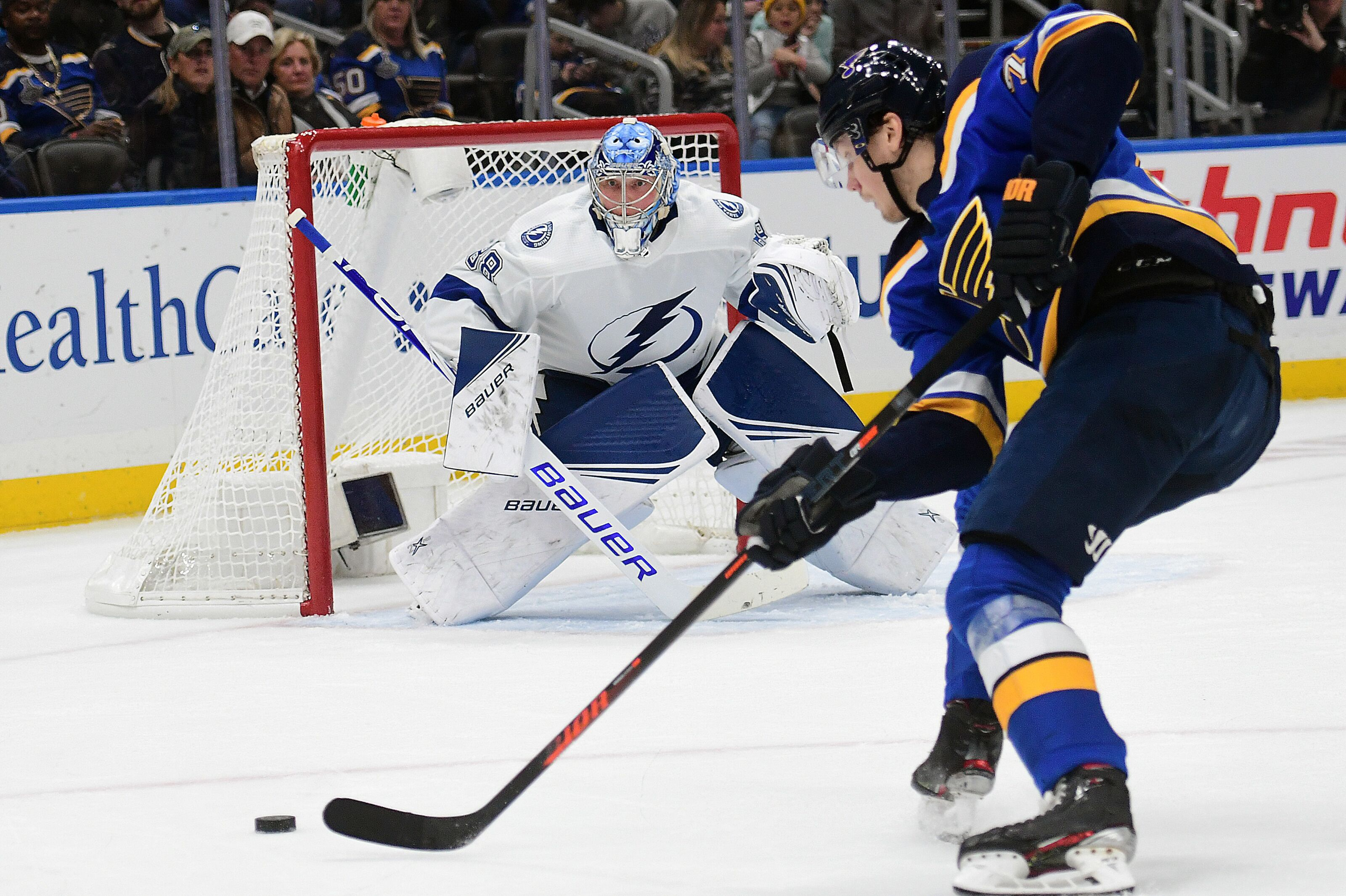Tampa Bay Lightning fall to St. Louis Blues in a spirited contest