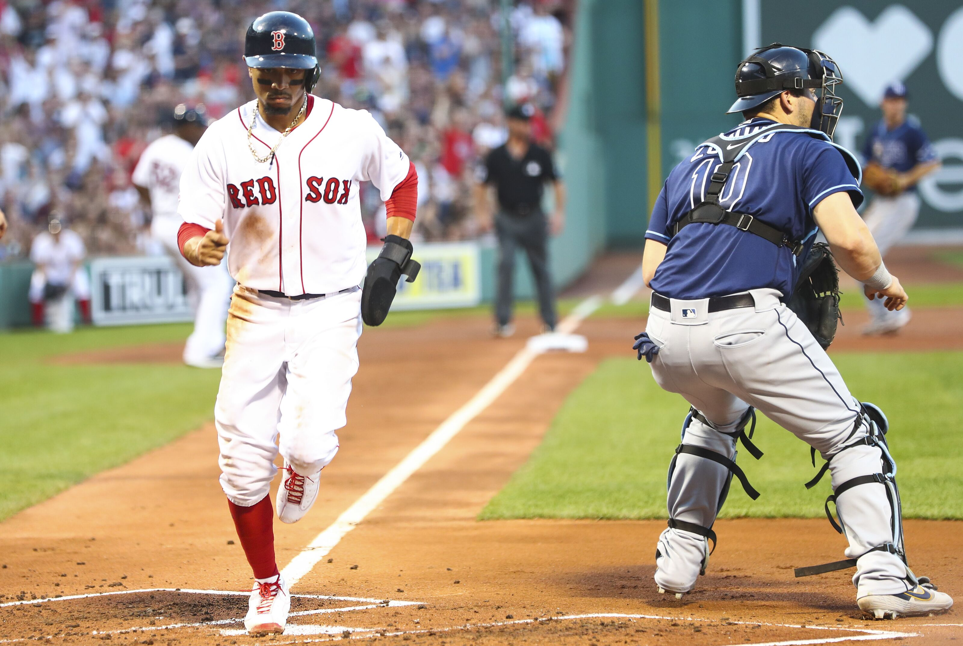 Red Sox outfielder Mookie Betts on historic run scoring pace