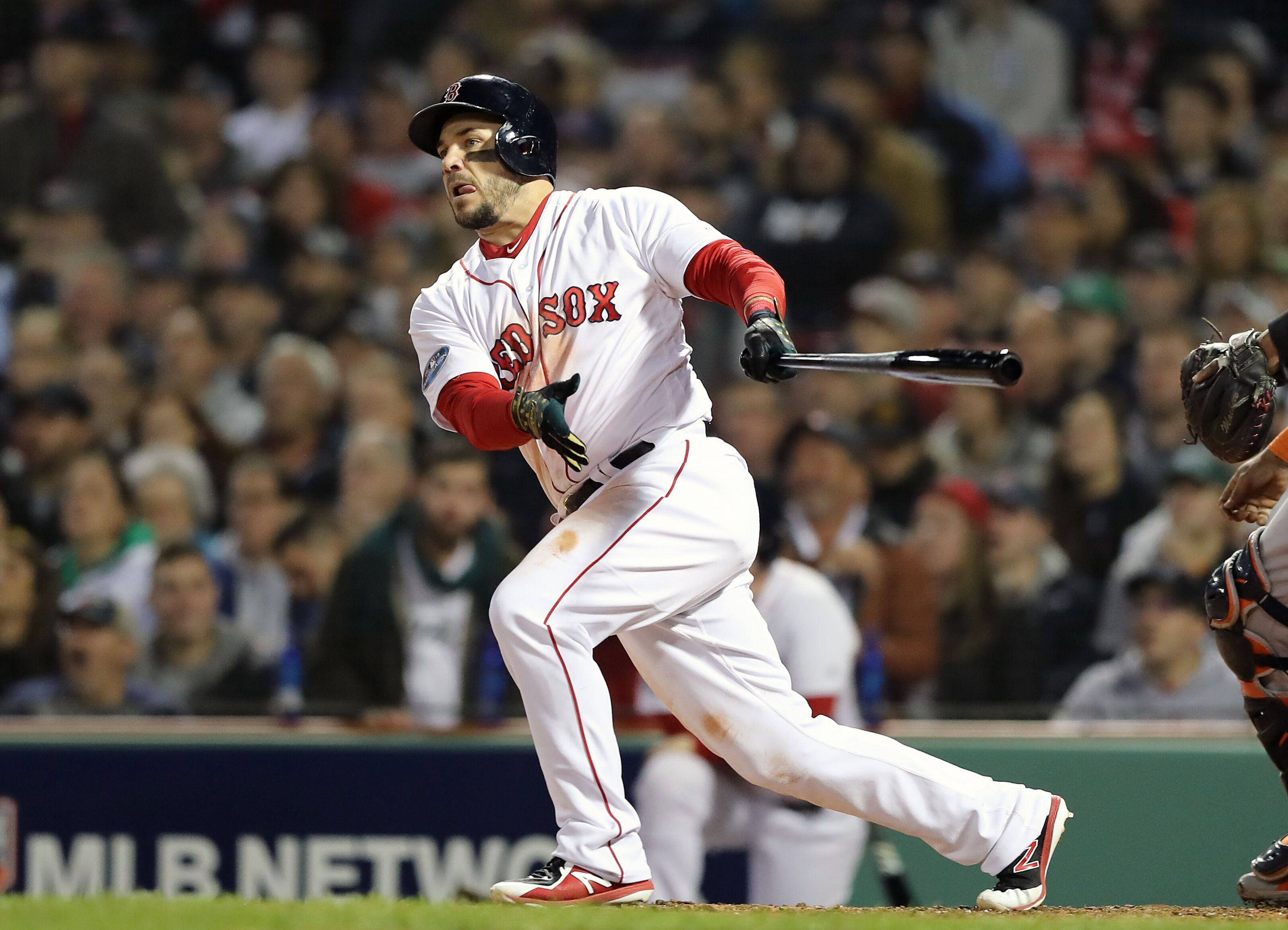 f39717387 Red Sox first baseman Steve Pearce making his presence felt in ALCS